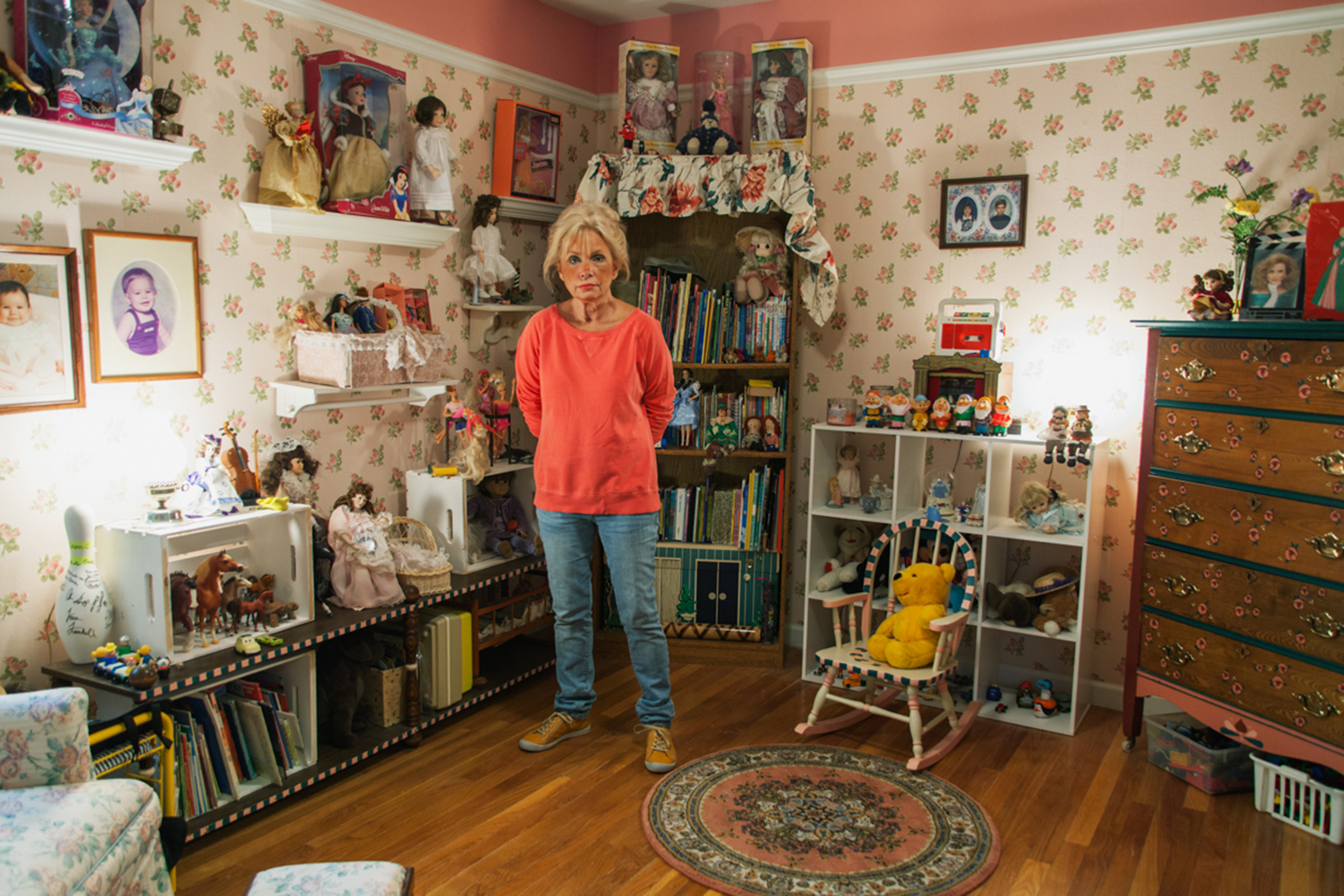 Mom in the doll room, 2014.