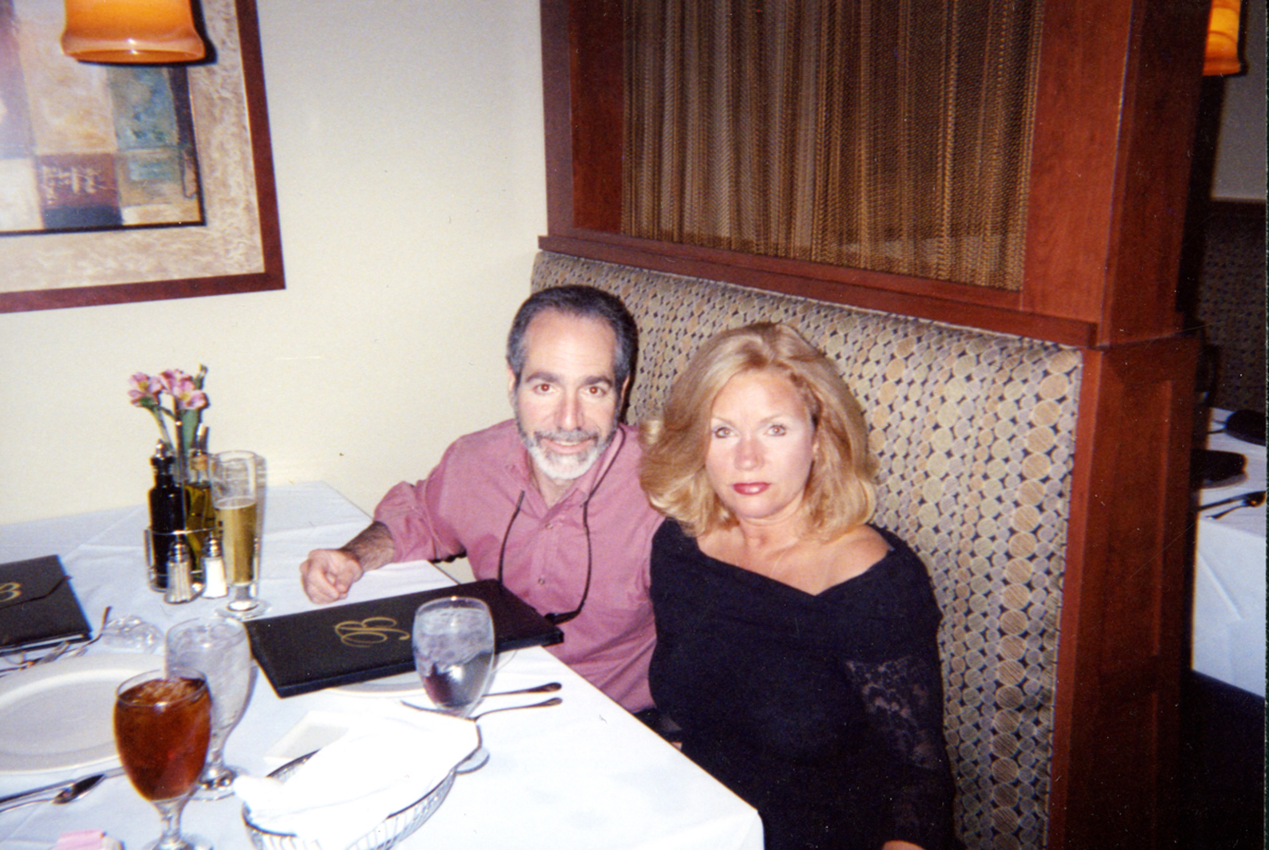 One of mom and dad's last dinners, 2005.