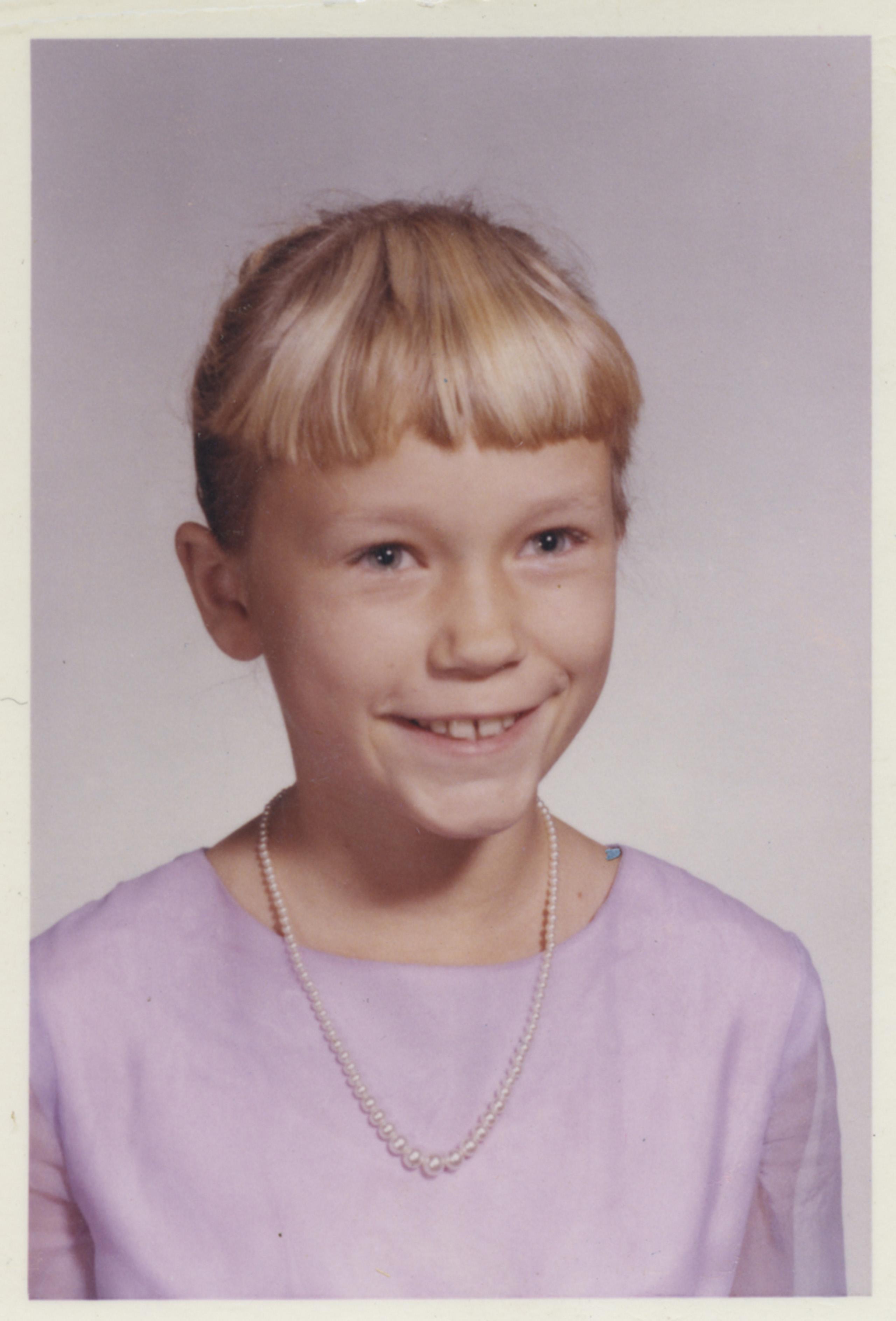 Mom's school portrait, 1964.