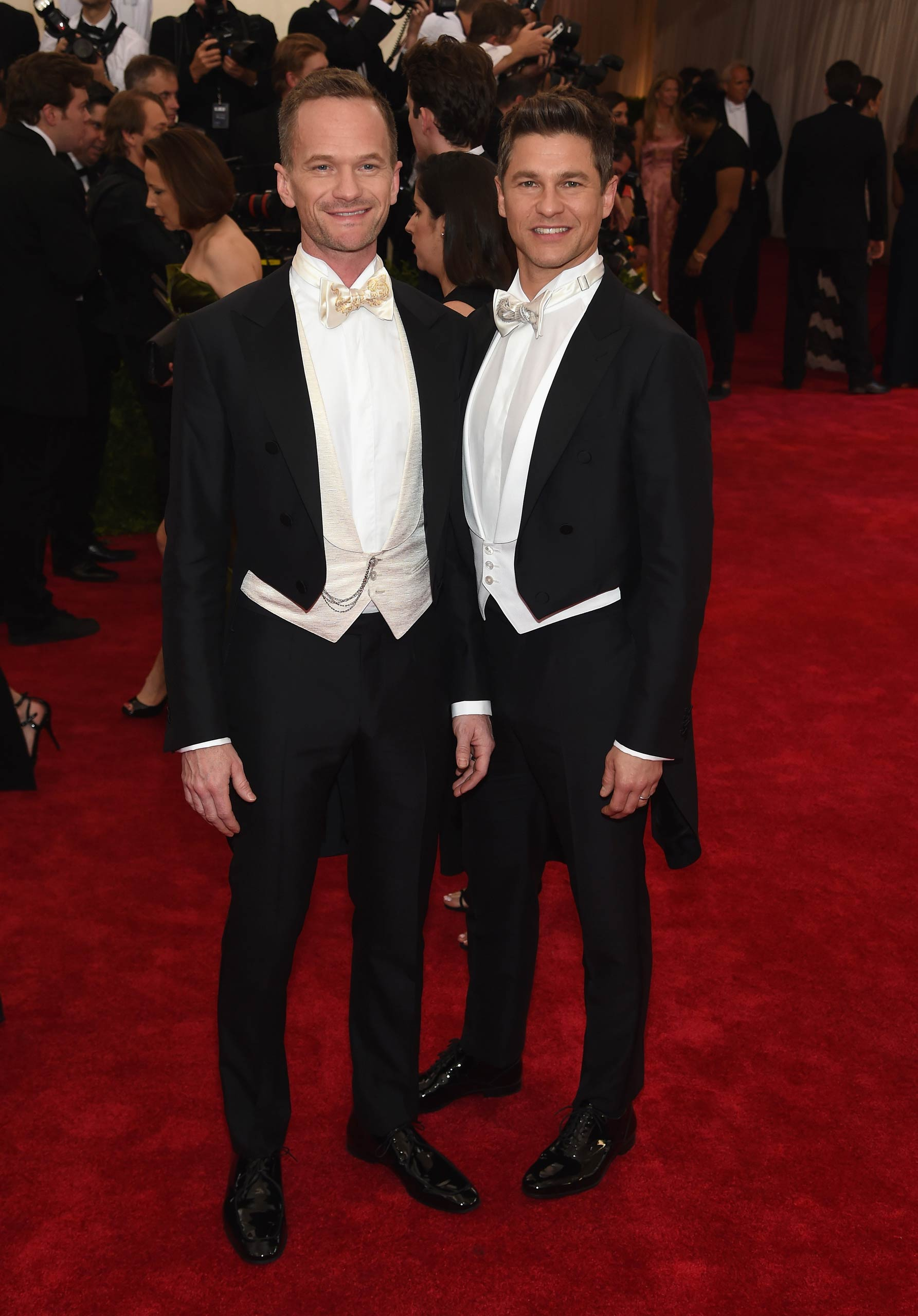 "Neil Patrick Harris  and David Burtka attend the ""China: Through The Looking Glass"" Costume Institute Benefit Gala at the Metropolitan Museum of Art on May 4, 2015 in New York."