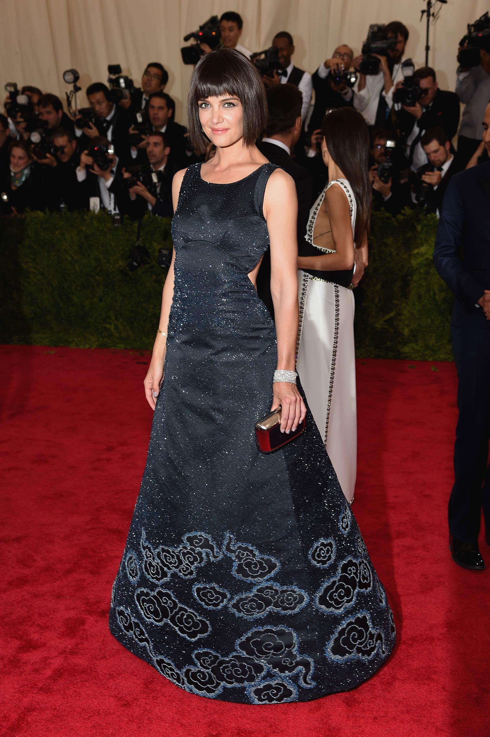 "Katie Holmes attends the ""China: Through The Looking Glass"" Costume Institute Benefit Gala at the Metropolitan Museum of Art on May 4, 2015 in New York."