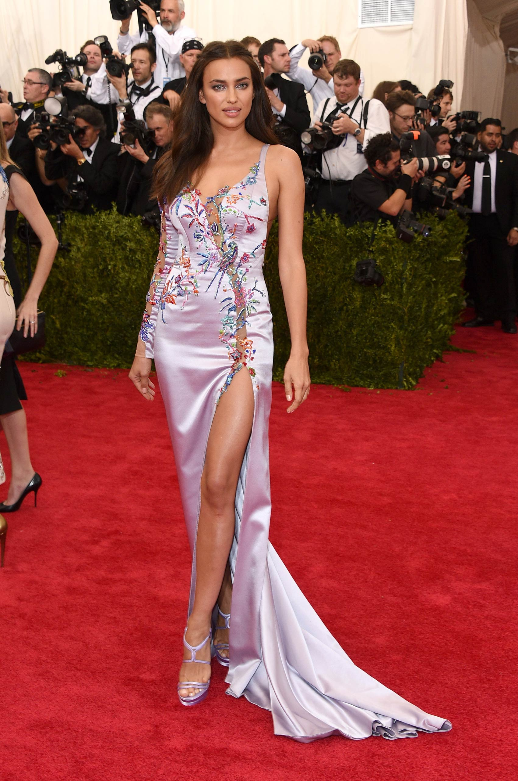"Irina Shayk attends the ""China: Through The Looking Glass"" Costume Institute Benefit Gala at the Metropolitan Museum of Art on May 4, 2015 in New York."