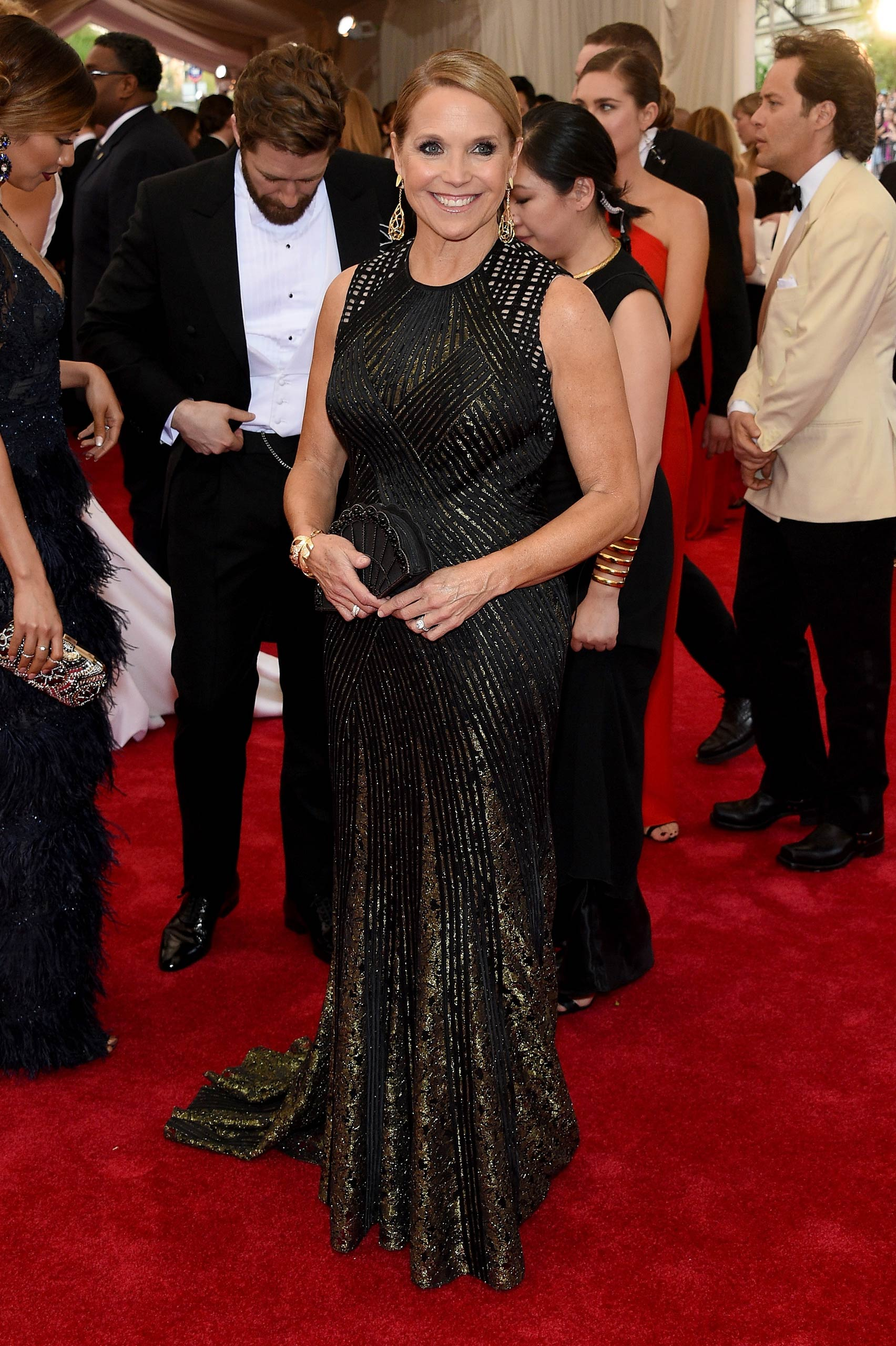 "Katie Couric attends the ""China: Through The Looking Glass"" Costume Institute Benefit Gala at the Metropolitan Museum of Art on May 4, 2015 in New York."