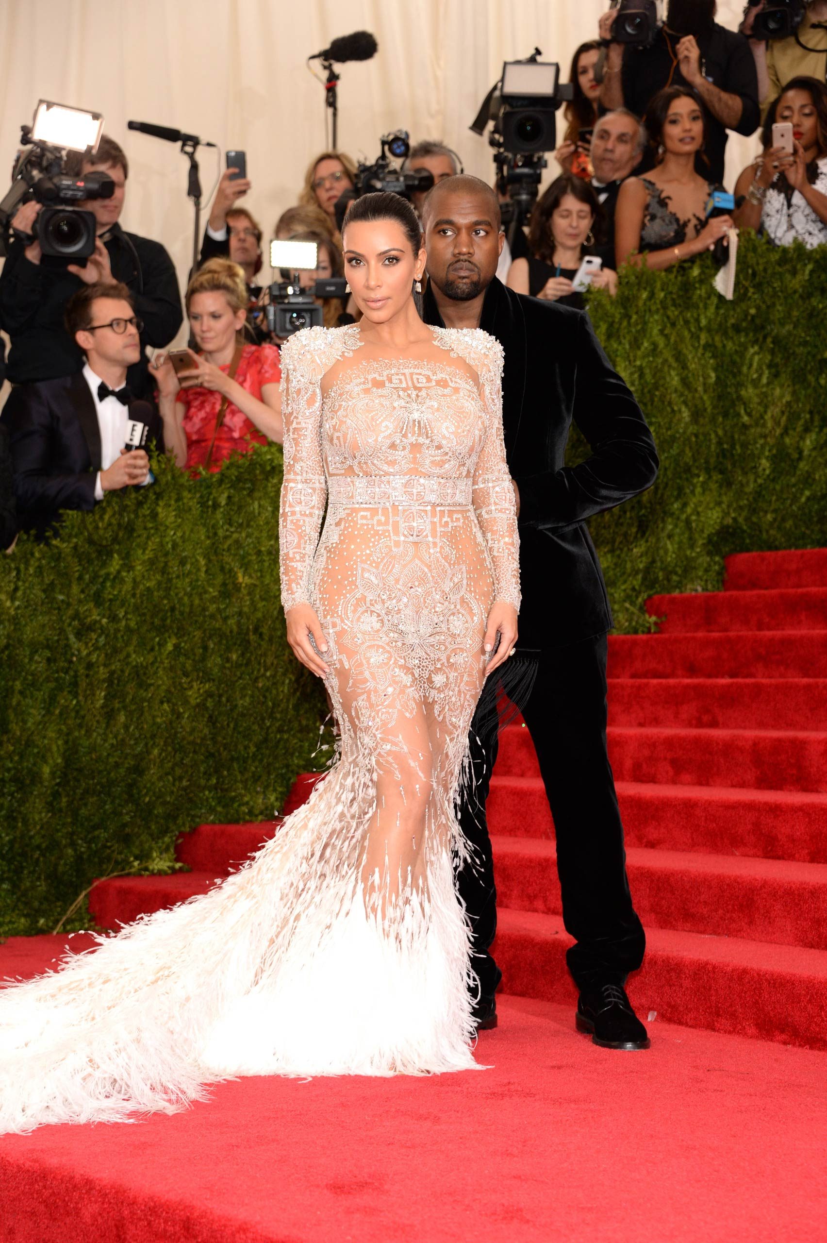 "Kim Kardashian West and Kanye West attend the ""China: Through The Looking Glass"" Costume Institute Benefit Gala at the Metropolitan Museum of Art on May 4, 2015 in New York."