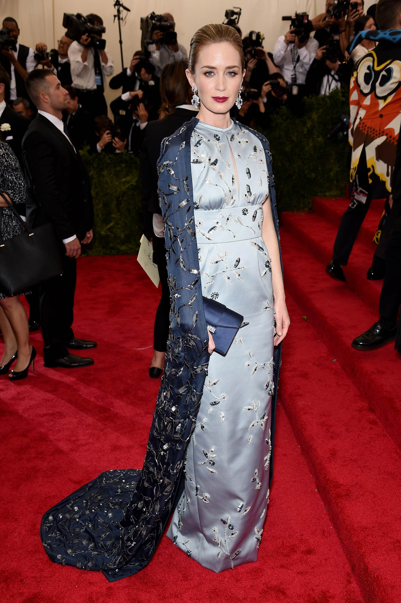 "Emily Blunt attends the ""China: Through The Looking Glass"" Costume Institute Benefit Gala at the Metropolitan Museum of Art on May 4, 2015 in New York."
