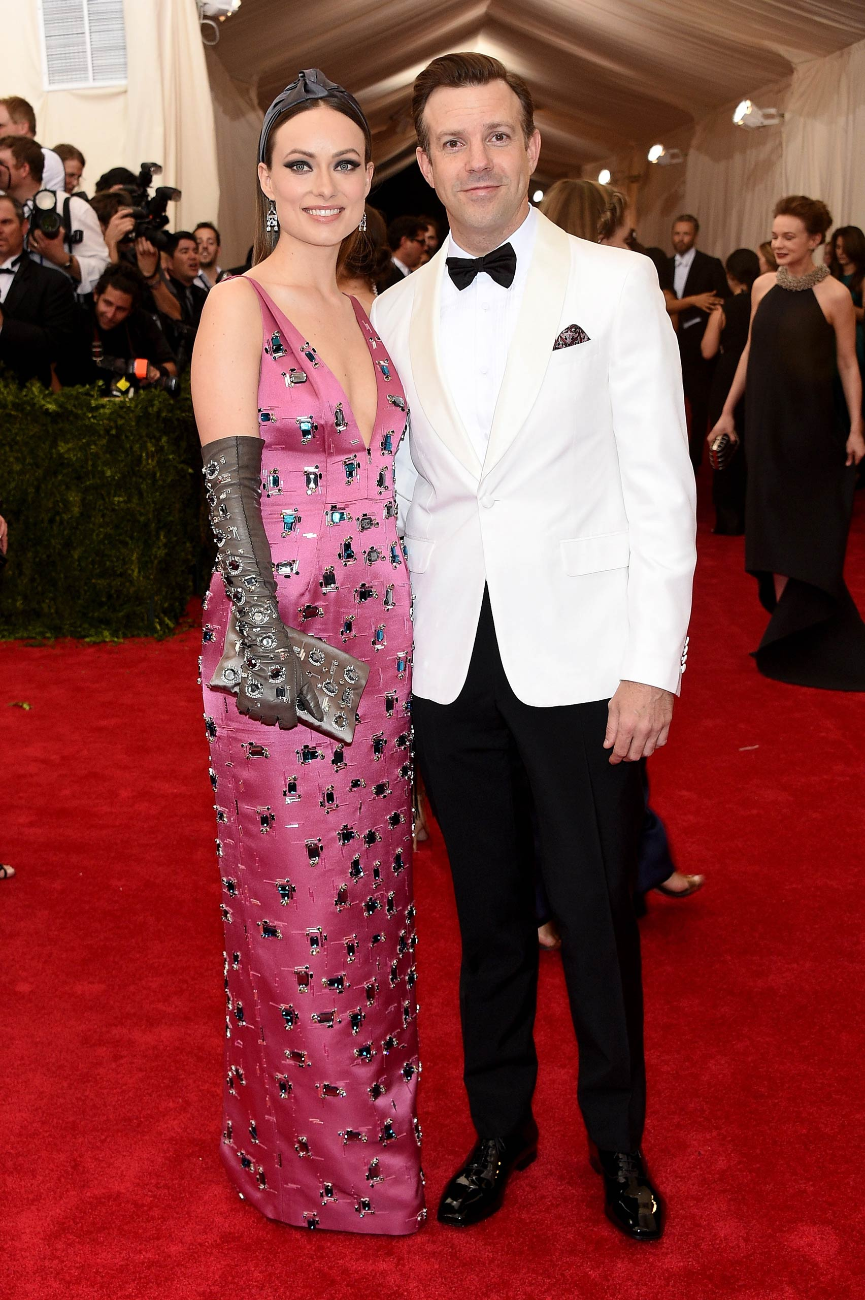 "Olivia Wilde and Jason Sudeikis attend the ""China: Through The Looking Glass"" Costume Institute Benefit Gala at the Metropolitan Museum of Art on May 4, 2015 in New York."