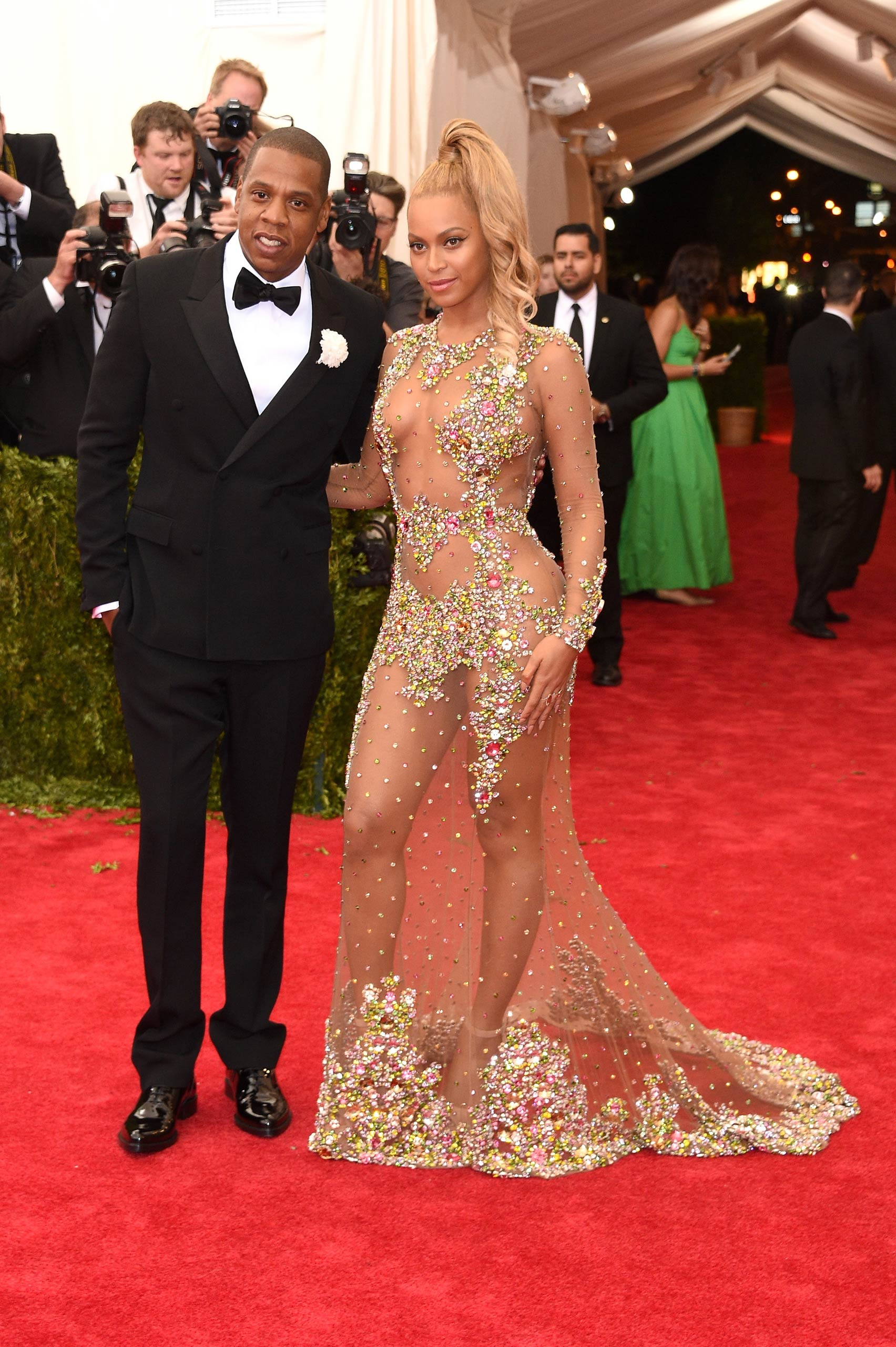 "Jay Z and Beyonce attend the ""China: Through The Looking Glass"" Costume Institute Benefit Gala at the Metropolitan Museum of Art on May 4, 2015 in New York."