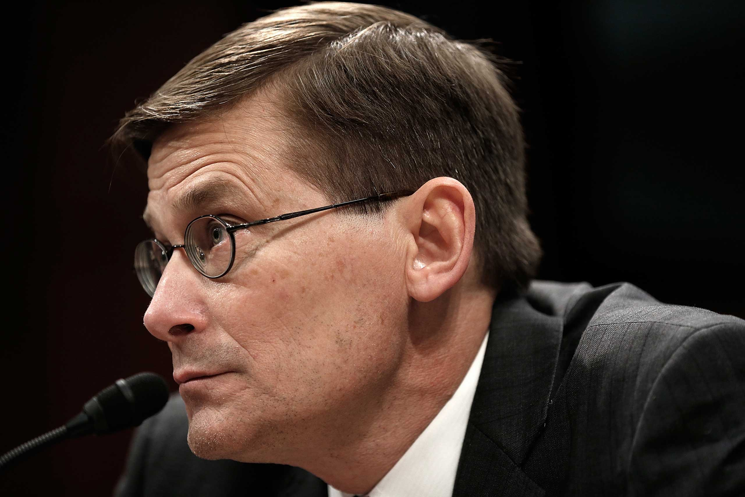 Former Deputy CIA Director Michael Morell testifies before the House Select Intelligence Committee April 2, 2014 in Washington, DC.