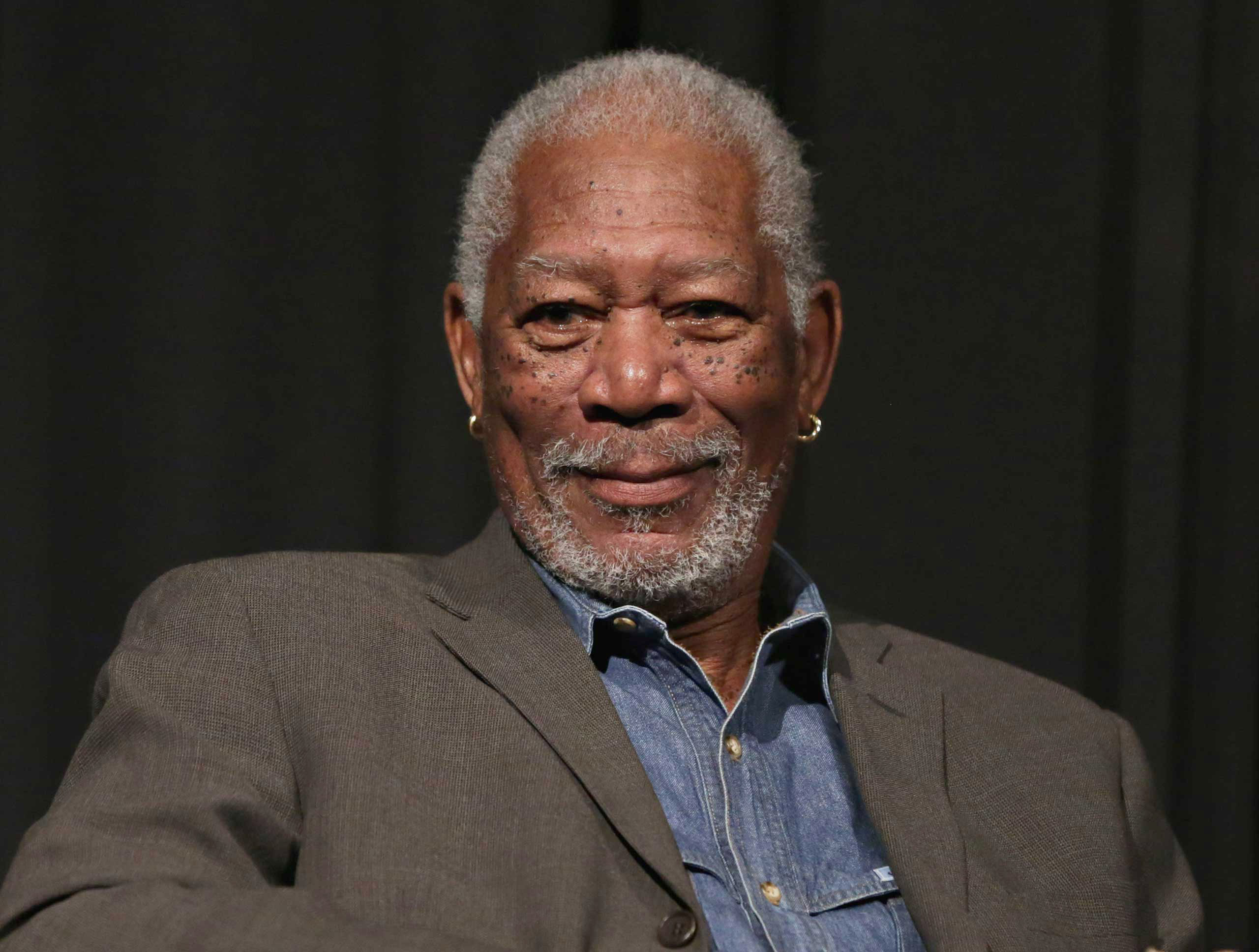 Morgan Freeman takes part in a SiriusXM Town Hall with Morgan Freeman hosted by Entertainment Weekly Radio channel in New York City, on April 30, 2015.