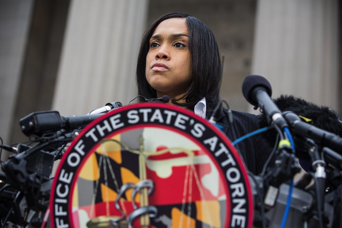 Baltimore City State's Attorney Marilyn J. Mosby announces that criminal charges will be filed against Baltimore police officers in the death of Freddie Gray in Baltimore on May 1, 2015.