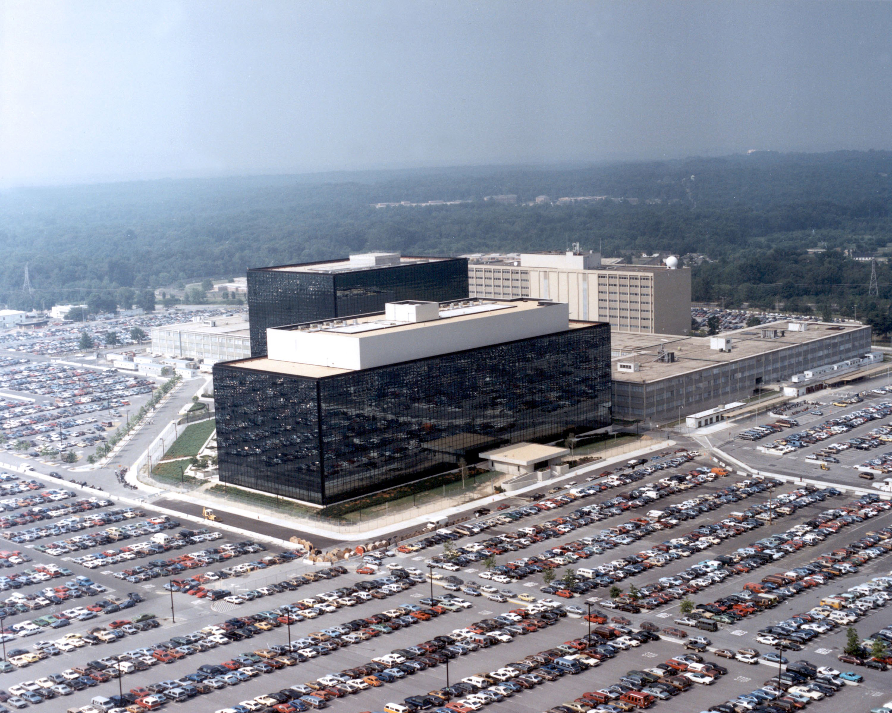 This undated photo provided by the National Security Agency (NSA) shows its headquarters in Fort Meade, Md.