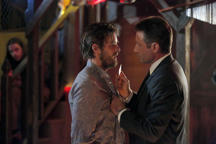 Anthony and Duchovny in Aquarius.