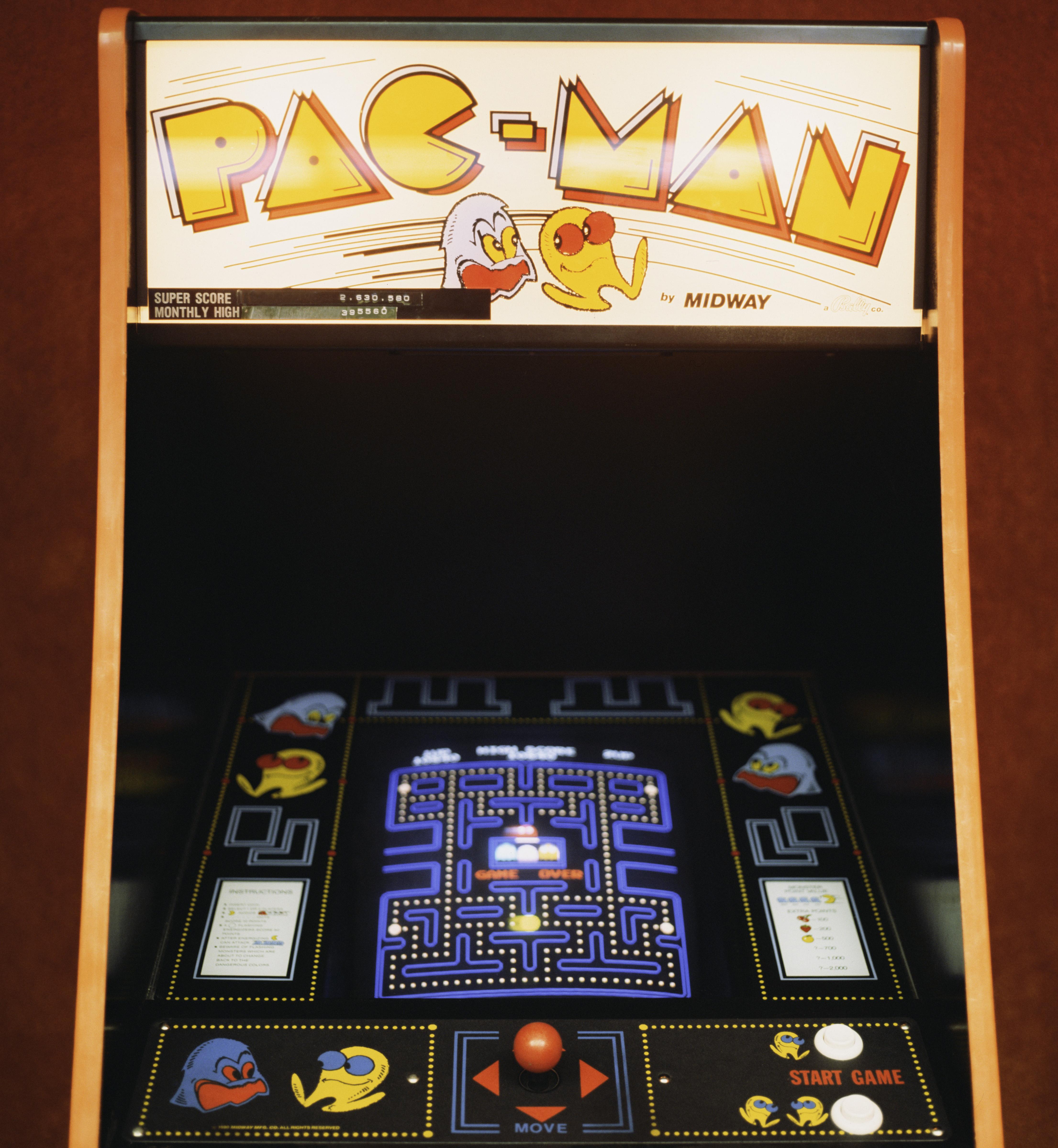 Pac-Man arcade game.