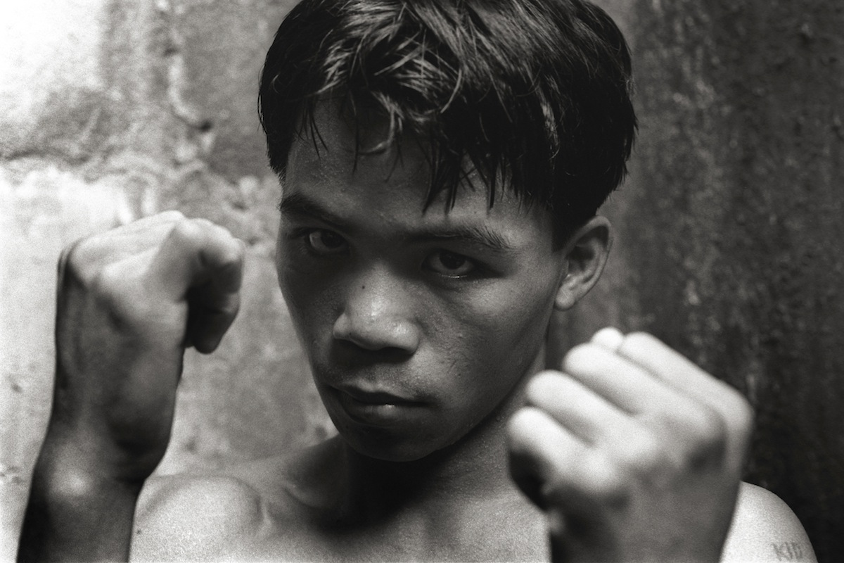 A teenage Manny Pacquiao, in Manila in 1996