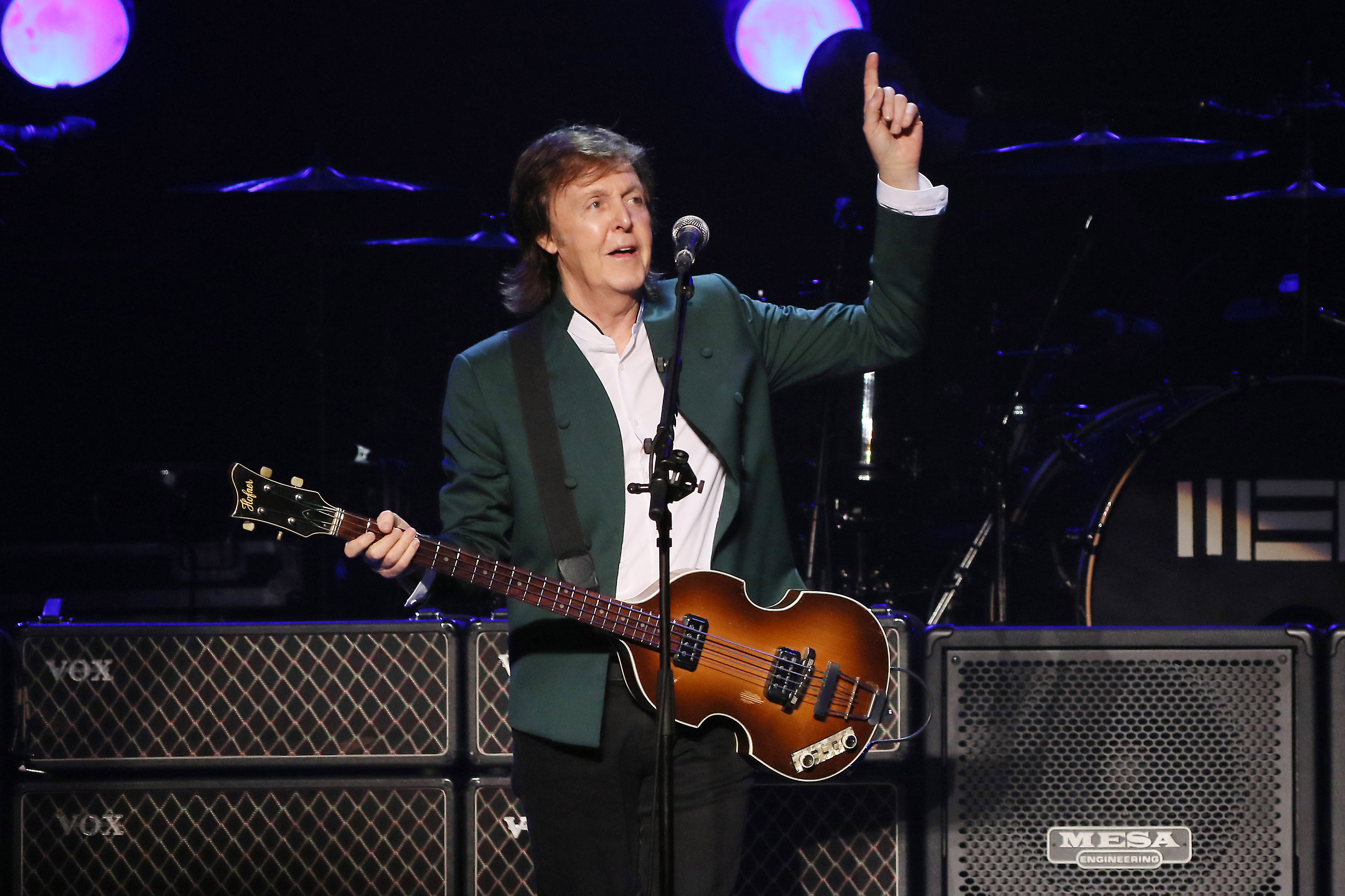 Paul McCartney performs live at the Budokan on April 28, 2015 in Tokyo.