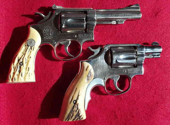 Two Smith & Wesson police service revolvers Detective Bentley was carrying the day he helped arrest Oswald