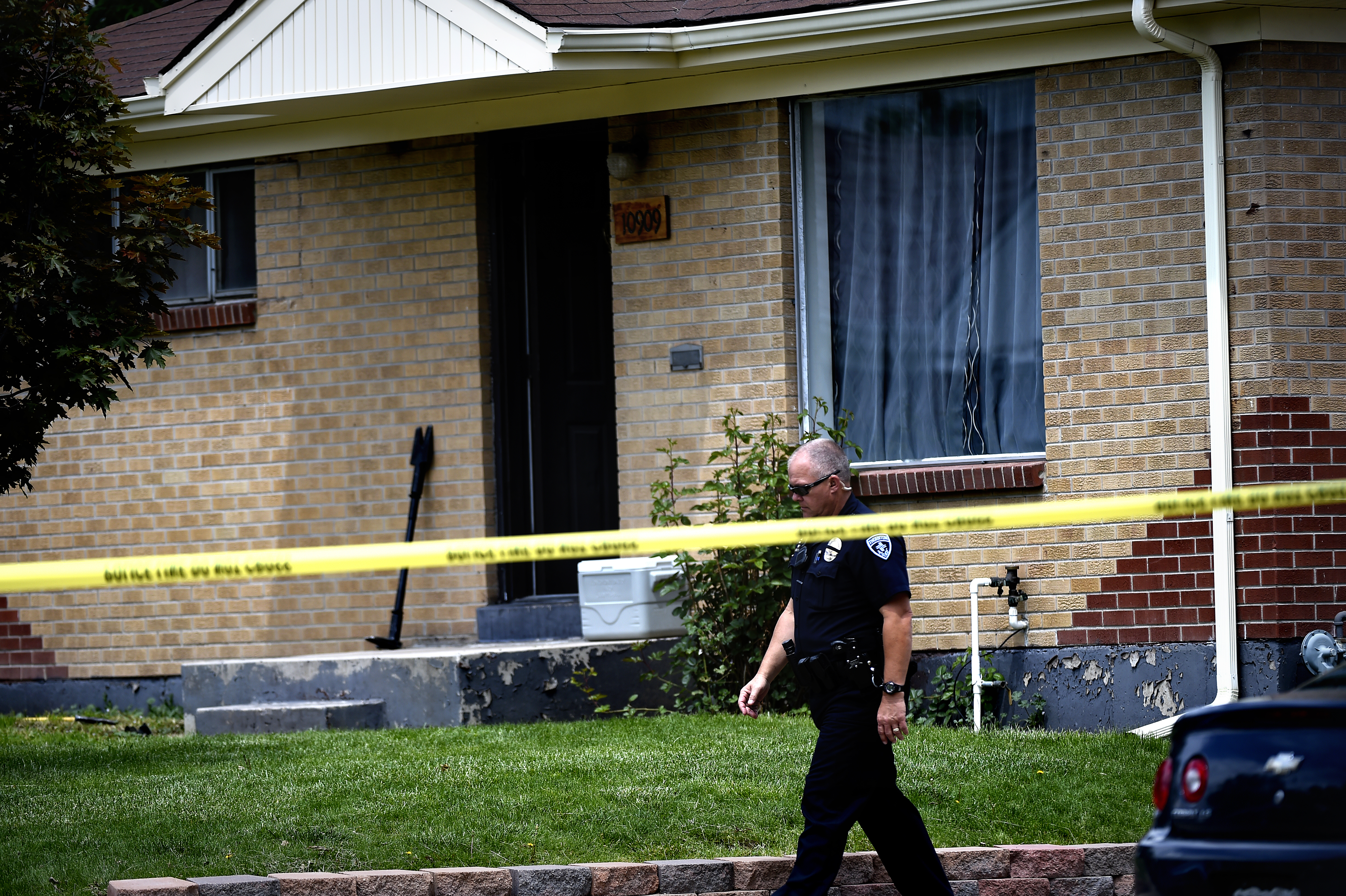 A Northglenn police officer was shot twice and a suspect killed as authorities served a narcotics search warrant at 10909 East 109th Place on May 28, 2015 in Northglenn, Colo.