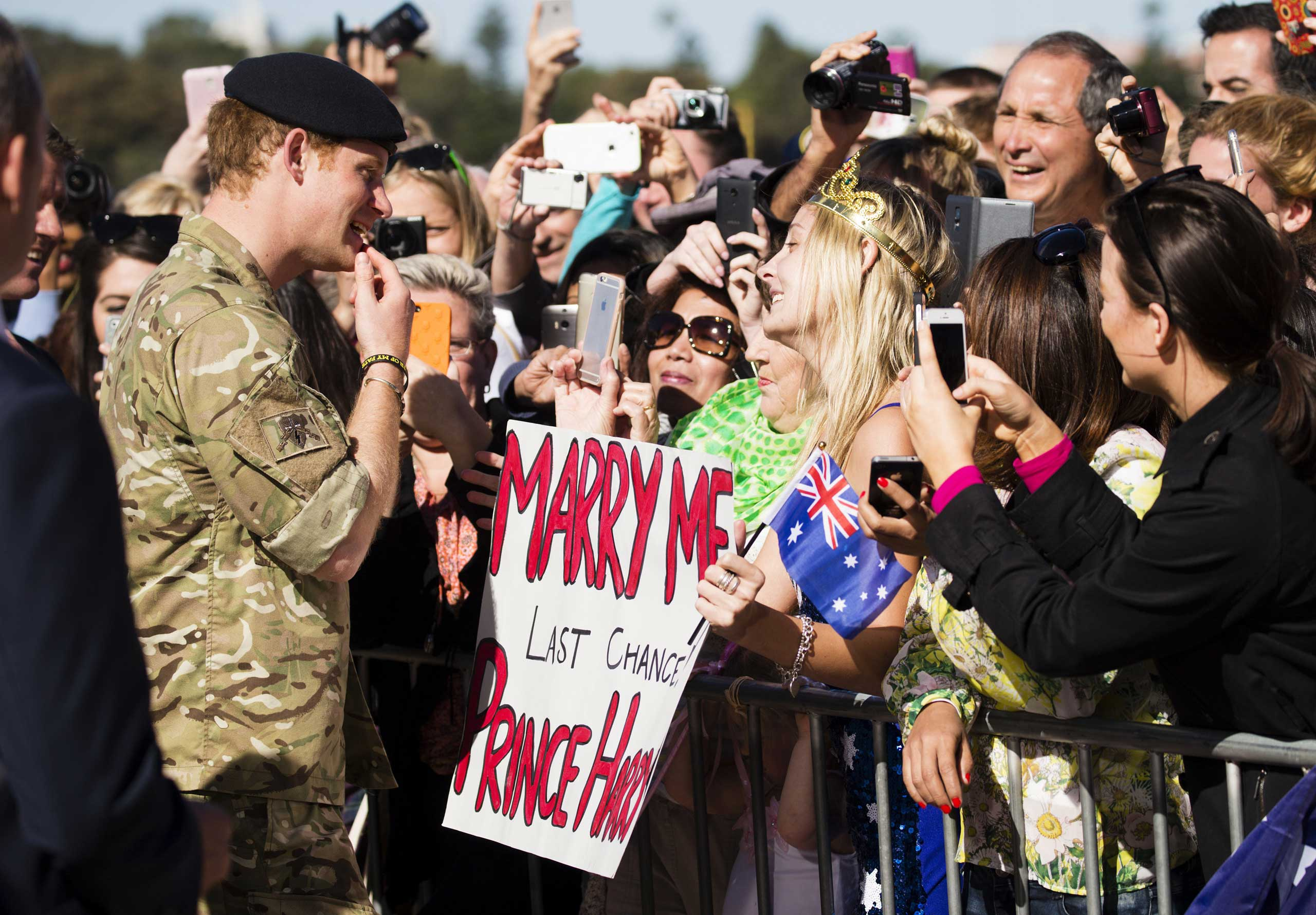 Prince Harry considers a marriage proposal from Victoria McRae in Australia.