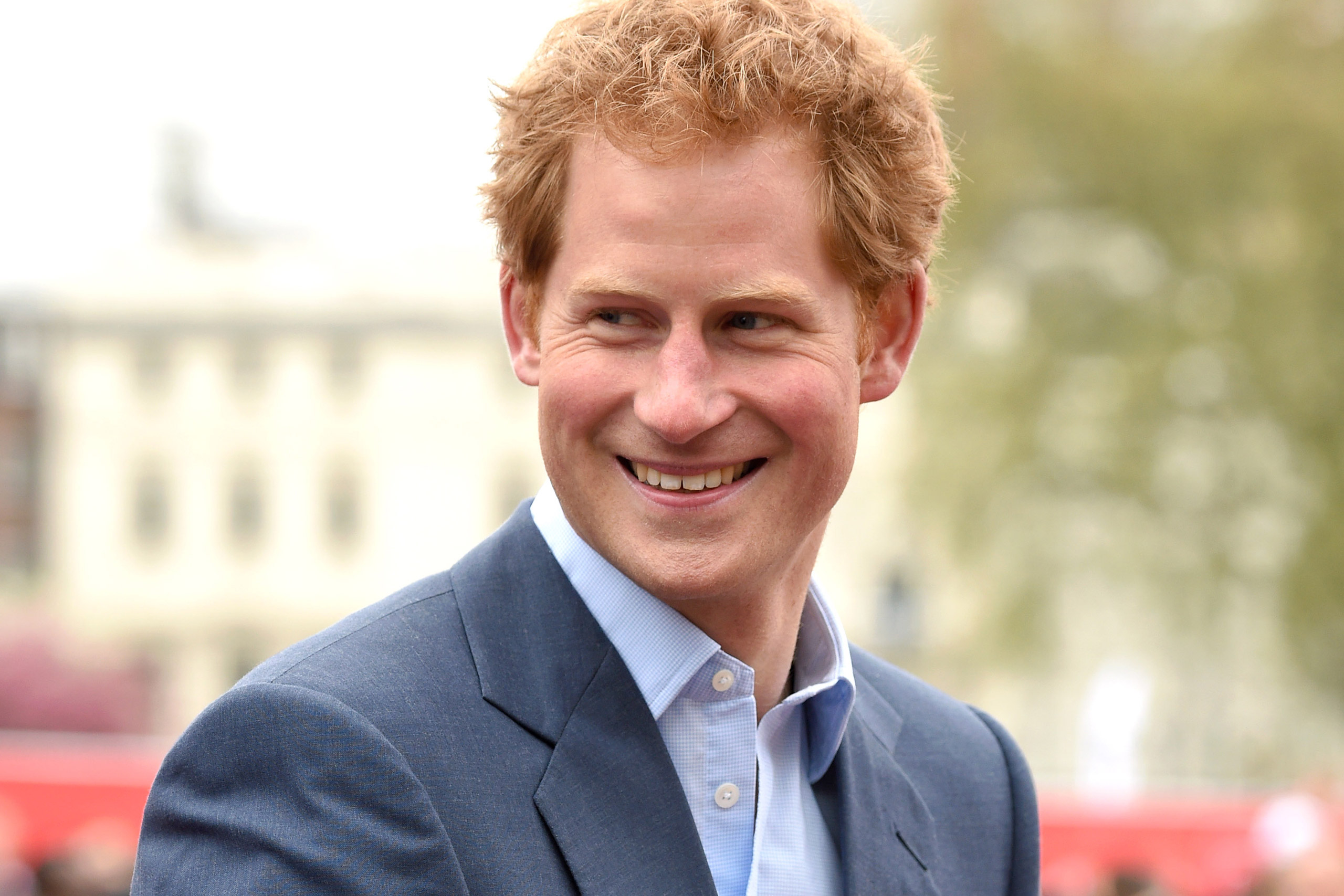 Prince Harry attends the London Marathon on April 26, 2015 in London.