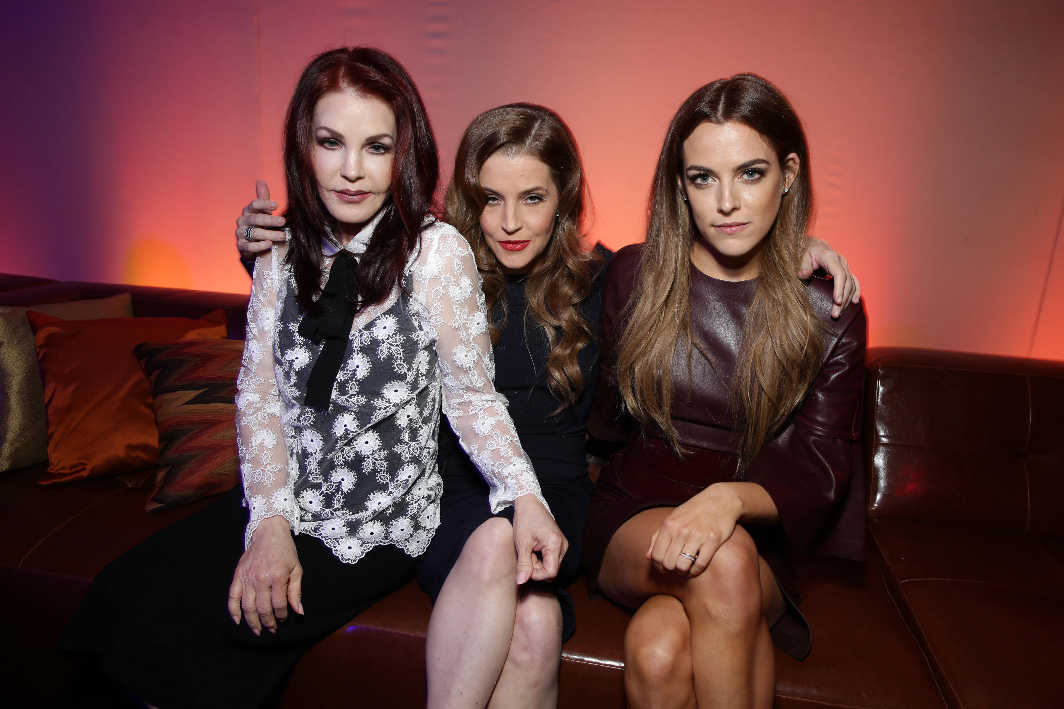 Priscilla Presley, Lisa Marie Presley and Riley Keough seen at the Warner Bros. premiere of  Mad Max: Fury Road  on May 7, 2015, in Los Angeles.