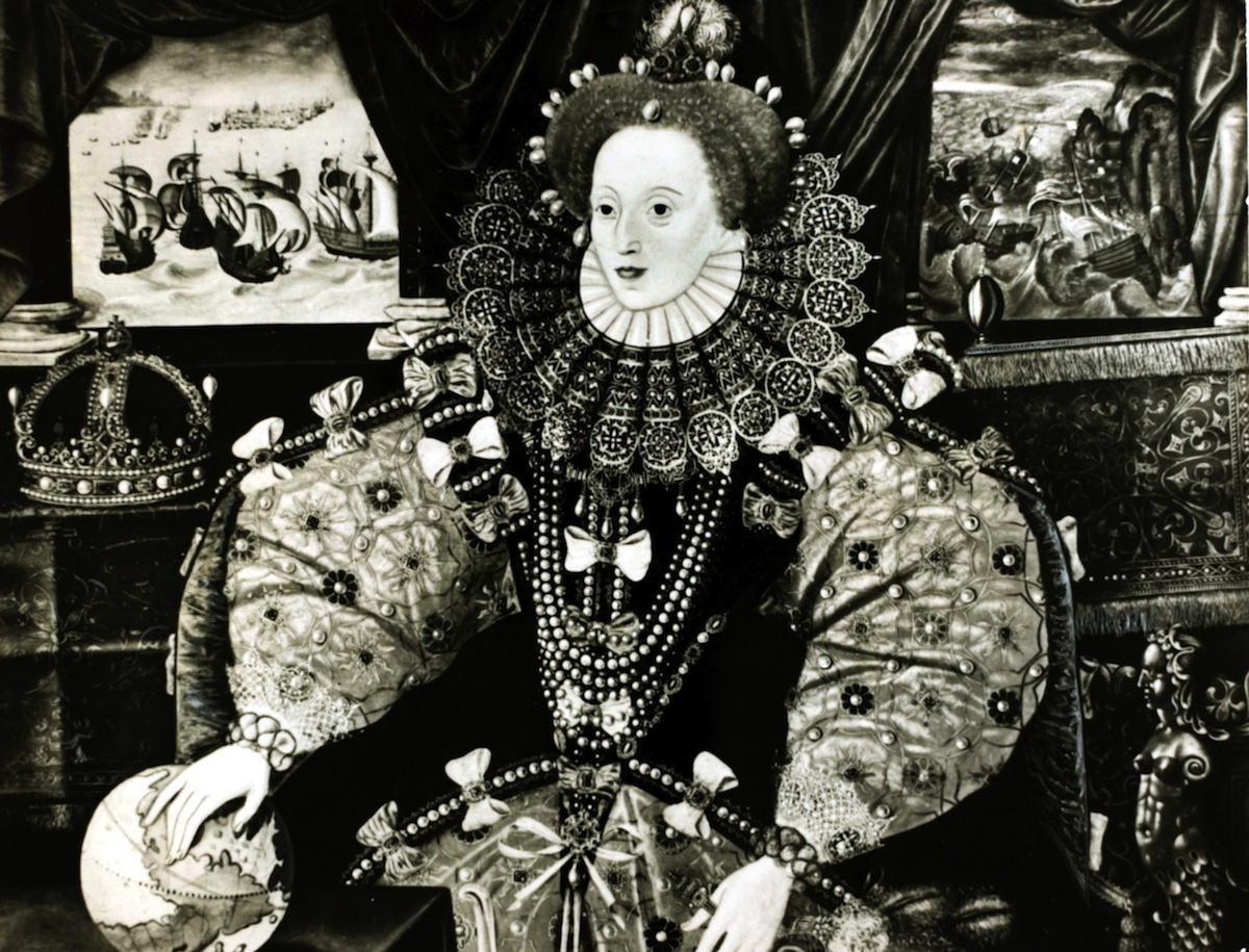 Queen Elizabeth I, depicted as ruler of the world, circa 1590
