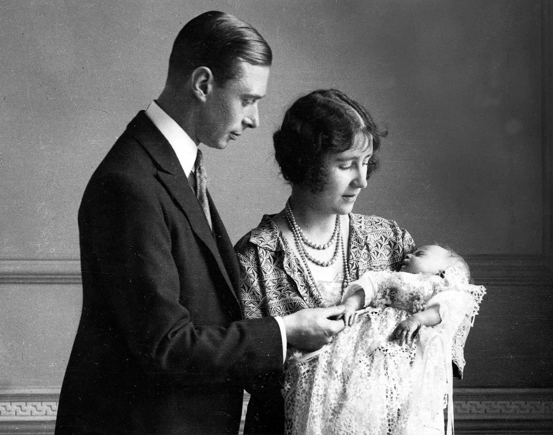 On April 21, 1926, the Duke and Duchess of York (later King George VI and Queen Elizabeth, the Queen Mother) welcomed their daughter Elizabeth Alexandra Mary to the world. Shortly after, the family was photographed with baby Elizabeth cloaked in a christening robe that had been in the royal family for generations.