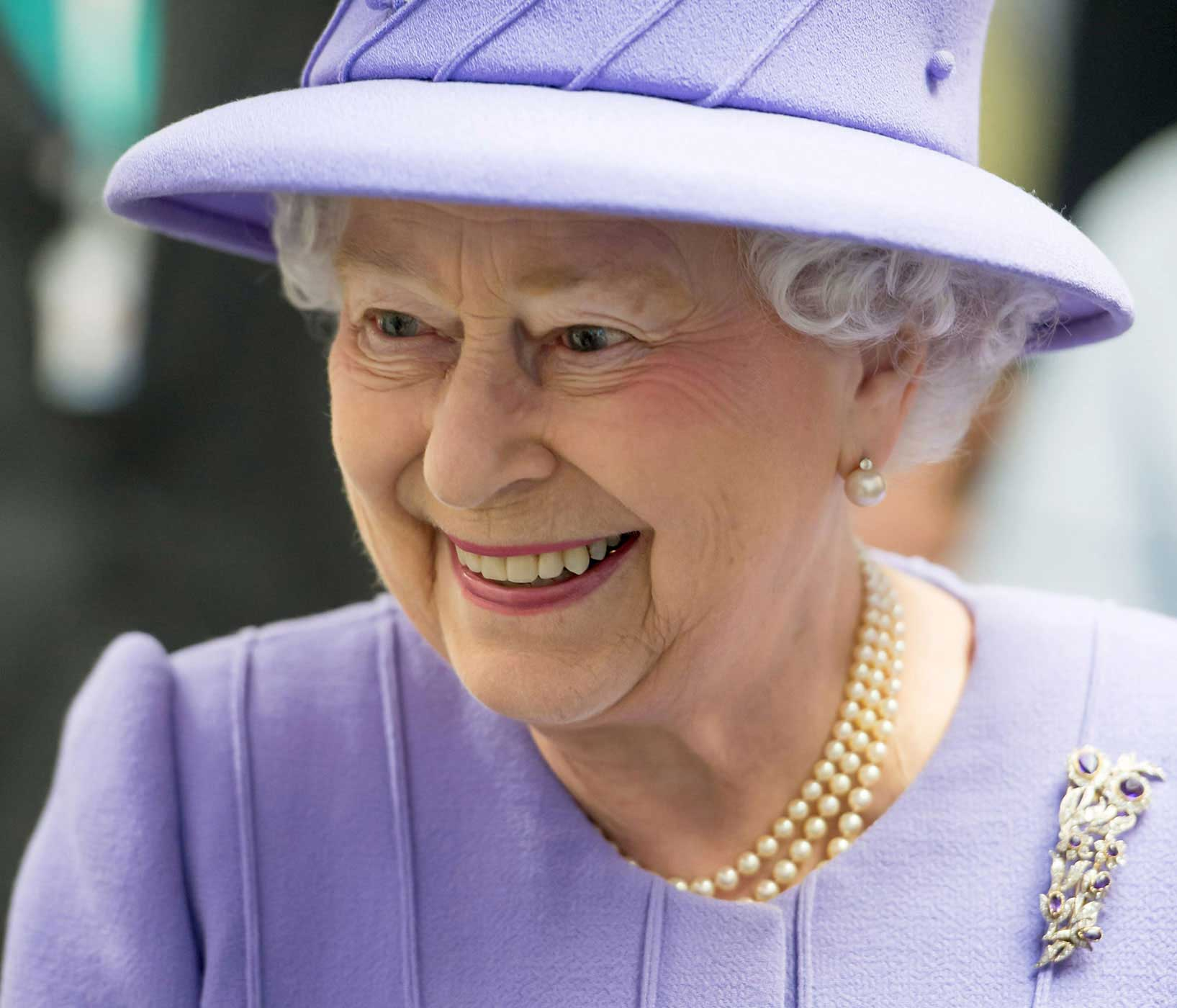 Britain's Queen Elizabeth tours the Royal London Hospital in East London, on Feb. 27, 2013.