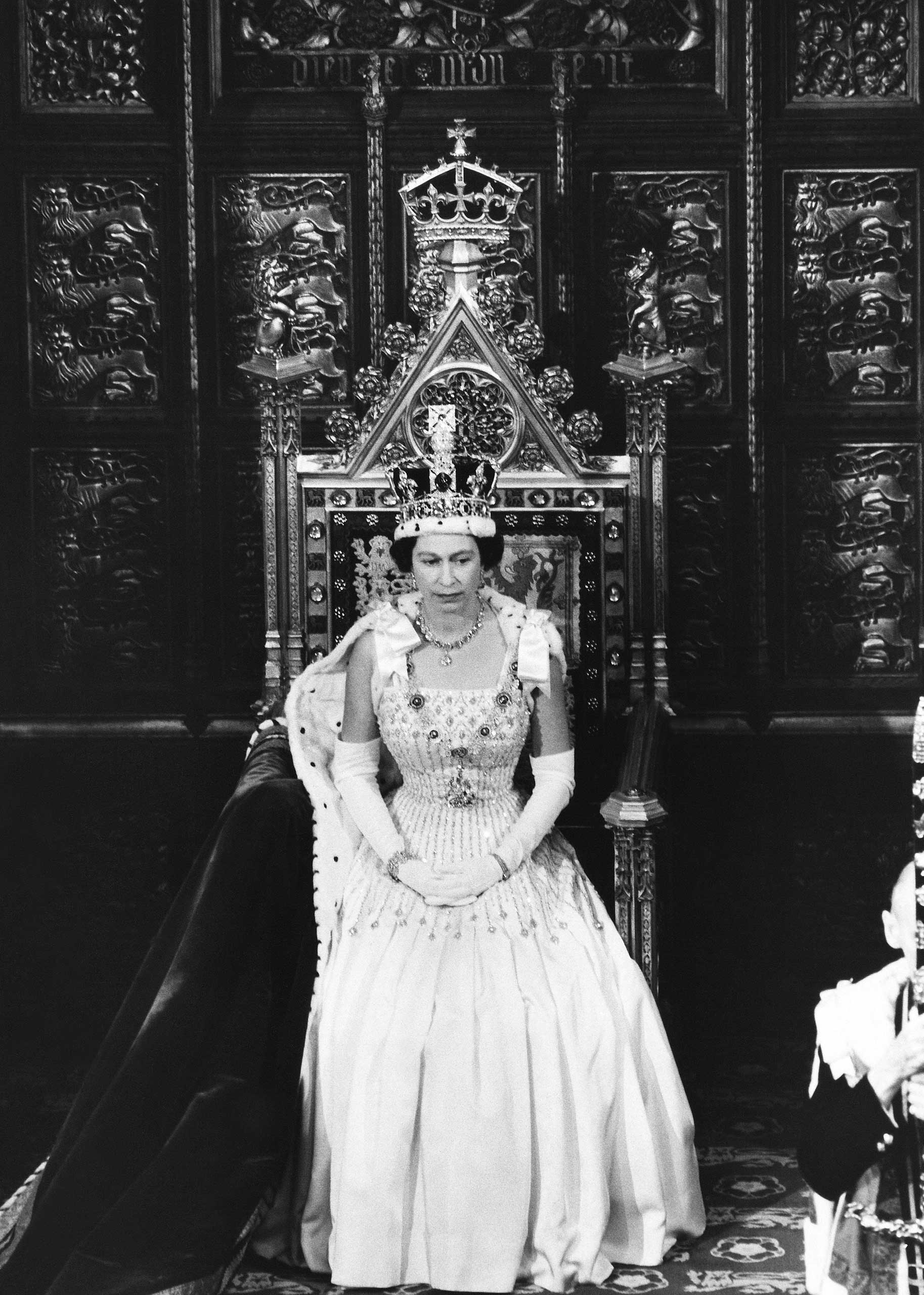 Queen Elizabeth II during the State Opening Of The Parliament in 1966.