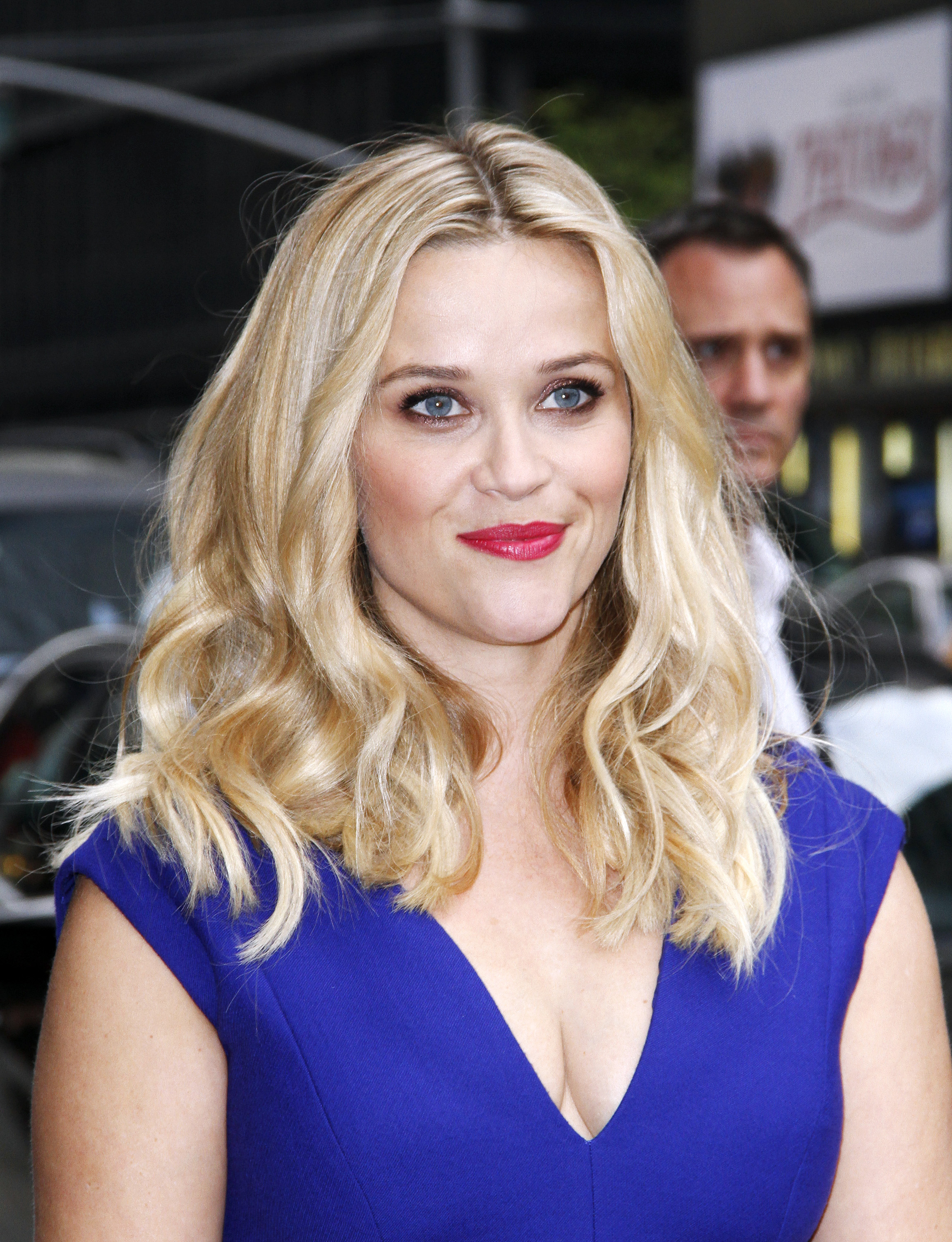 Reese Witherspoon visits  The Late Show with David Letterman  at the Ed Sullivan Theater on May 5, 2015 in New York City.