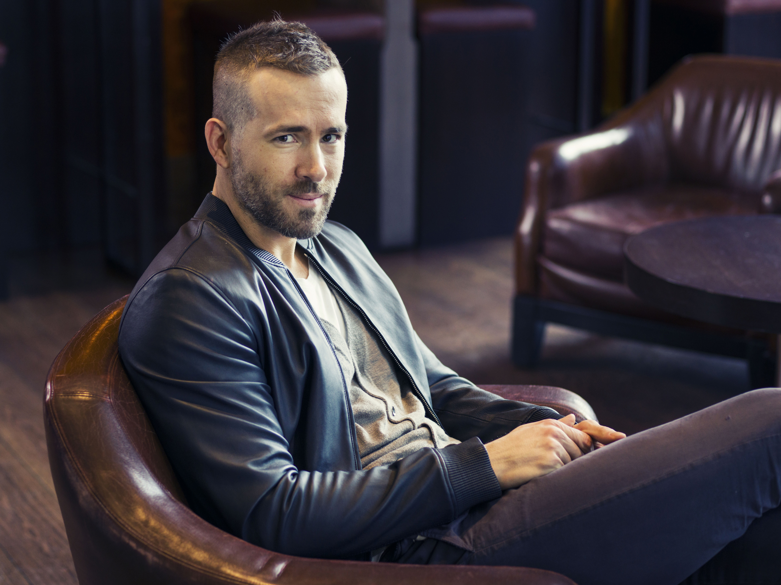 Ryan Reynolds poses for a portrait in promotion of his role in the film Woman in Gold on Feb. 26, 2015 in New York.