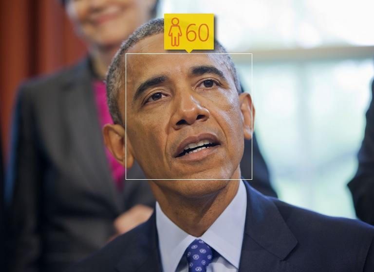 Barack Obama in April, 2015. Real age: 53
