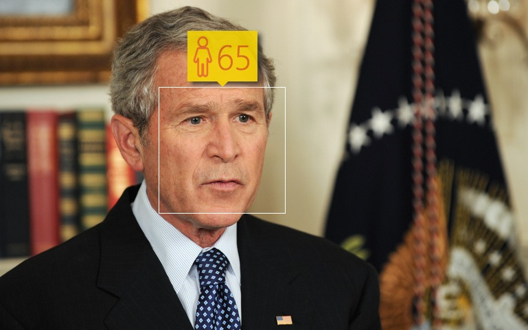 George W. Bush in May, 2008. Real age: 61