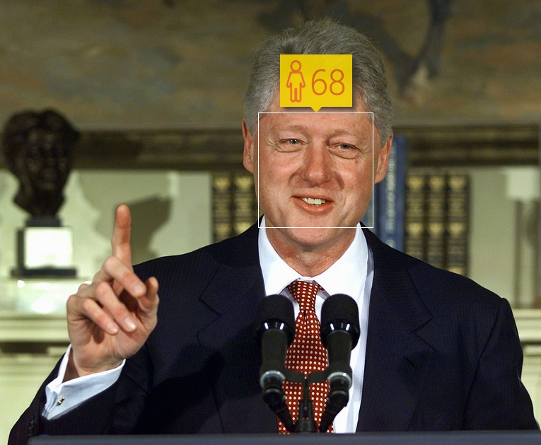 Bill Clinton in January, 2001. Real age: 54