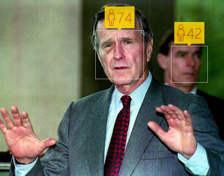 George Bush, Sr. in December, 1992. Real age: 68