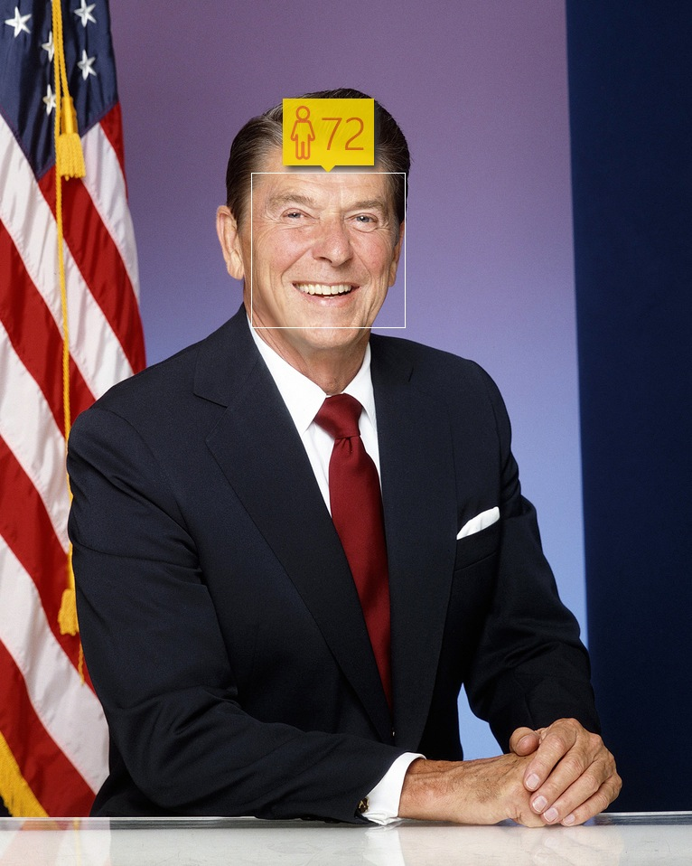 Ronald Reagan in January, 1981. Real age: 70