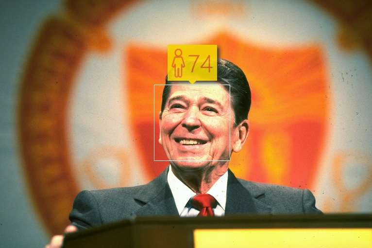 Ronald Reagan in February, 1989. Real age: 78