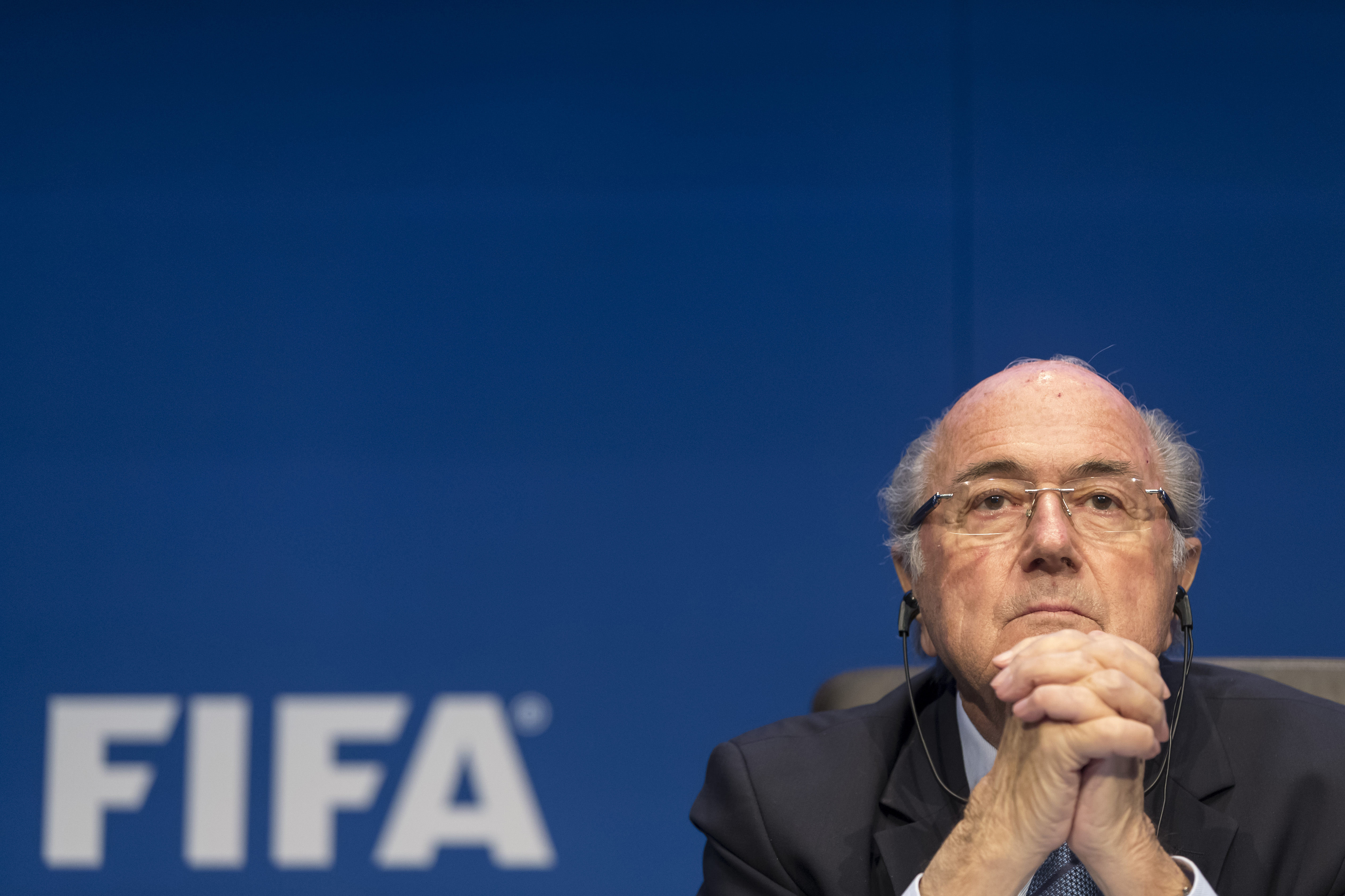 FIFA President Joseph S. Blatter talks to the press during the FIFA Post Congress Week Press Conference at the Home of FIFA on May 30, 2015 in Zurich.
