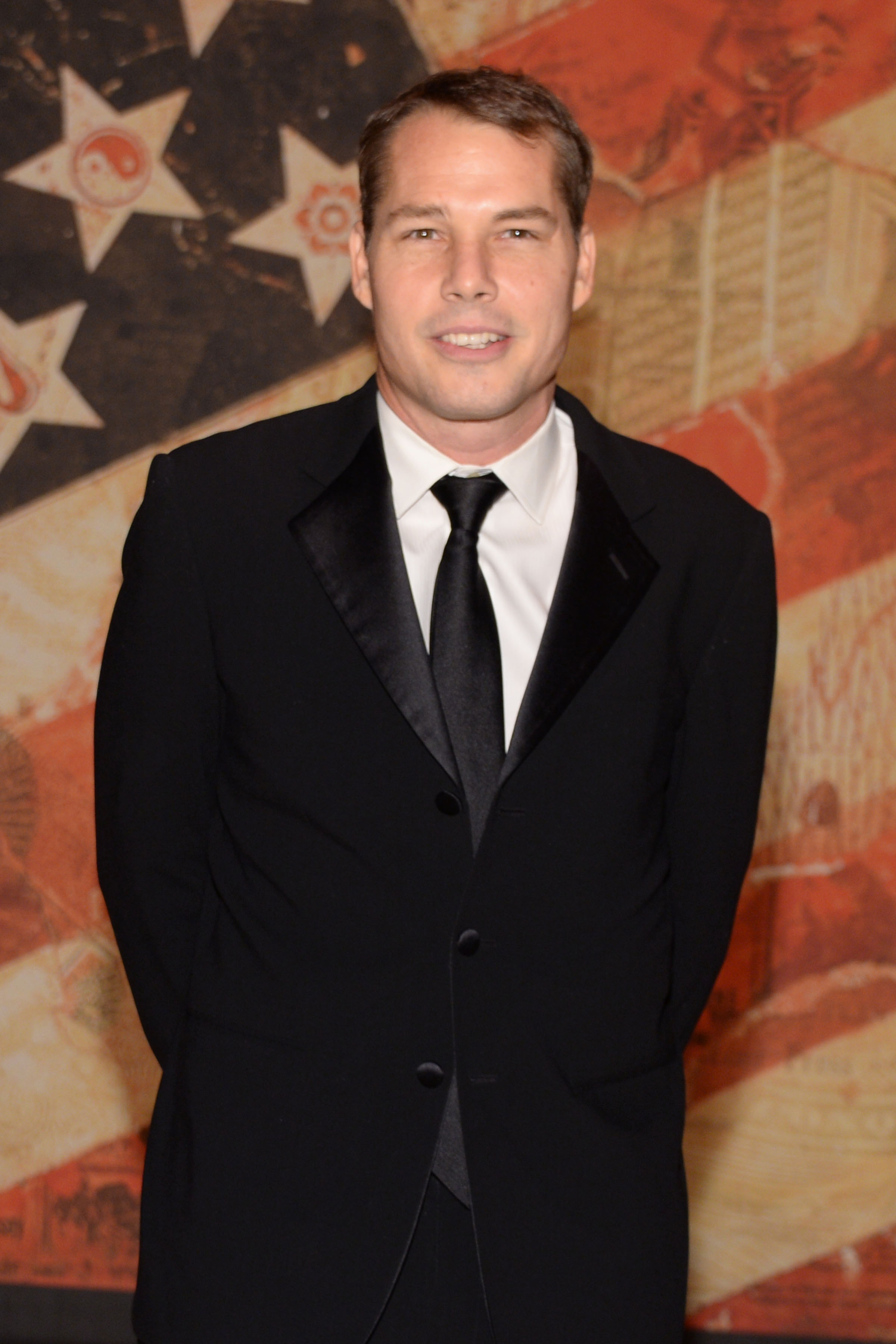 Shepard Fairey attends the 2014 National Arts Award held at Cipriani 42nd St, New York City on October 20, 2014.