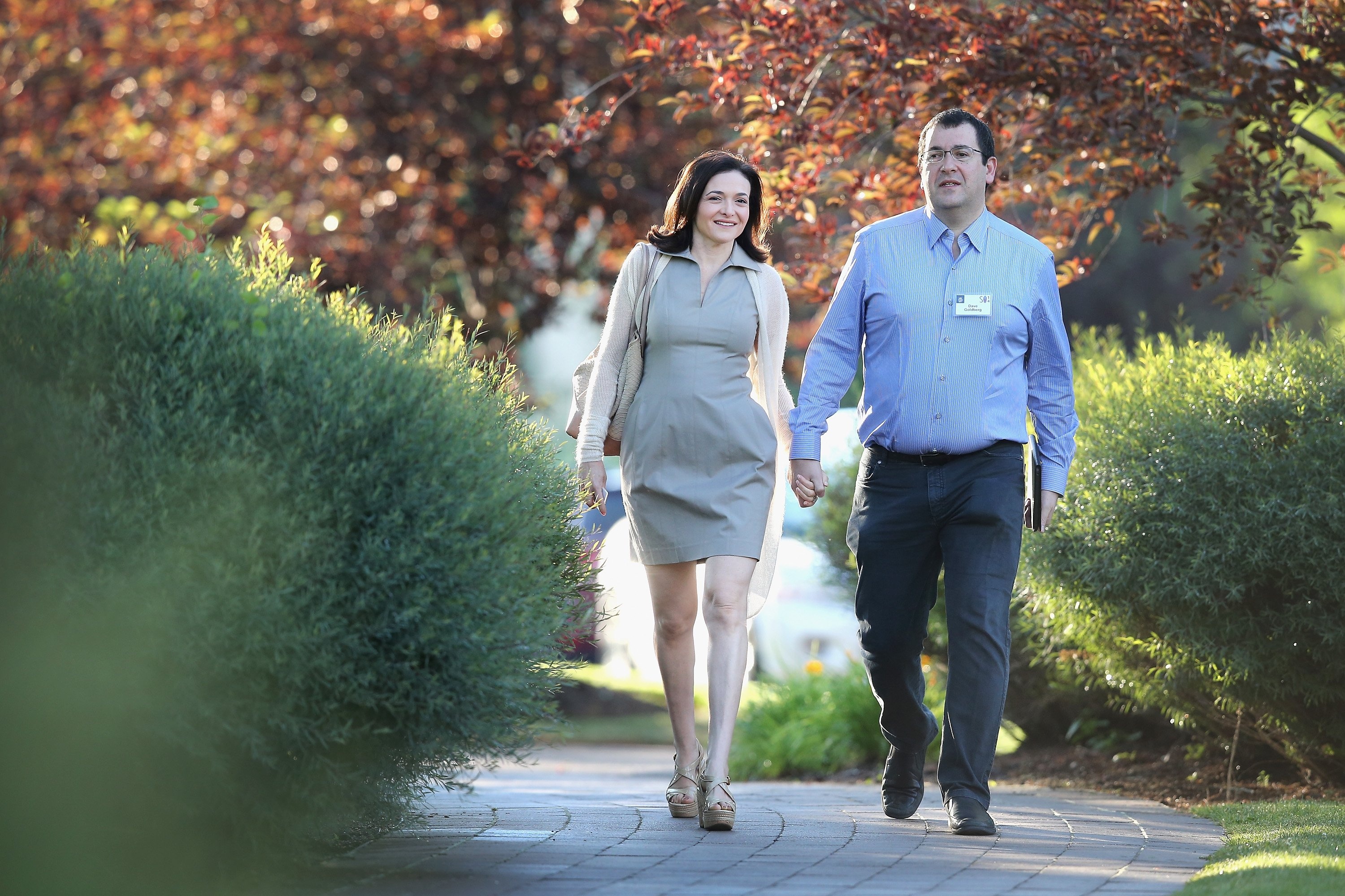 Facebook COO Sheryl Sandberg and husband Dave Goldberg attending the Allen & Company Sun Valley Conference on July 9, 2014 in Sun Valley, Idaho.