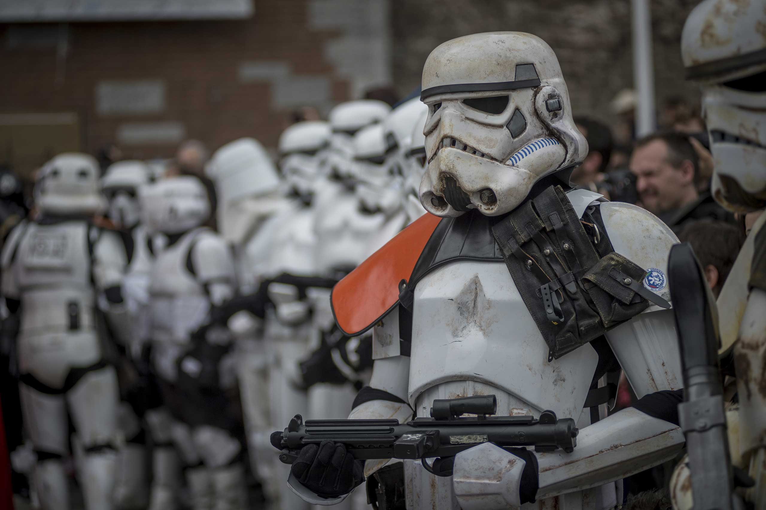 Star Wars Day, cosplayer dressed as a  Star Wars  character in Milan Center on May 3, 2015.
