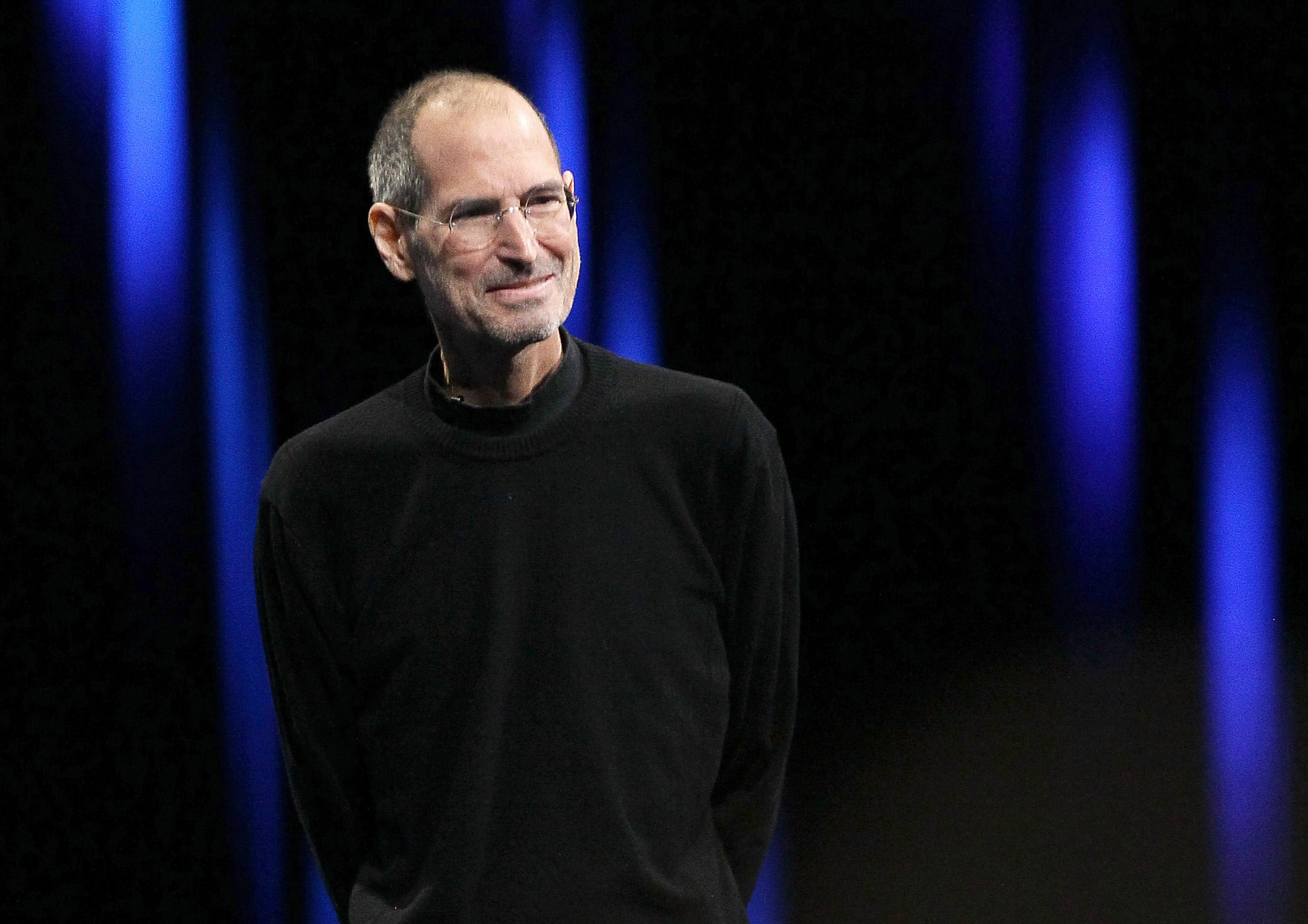Apple CEO Steve Jobs at the 2011 Apple World Wide Developers Conference at the Moscone Center on June 6, 2011 in San Francisco.