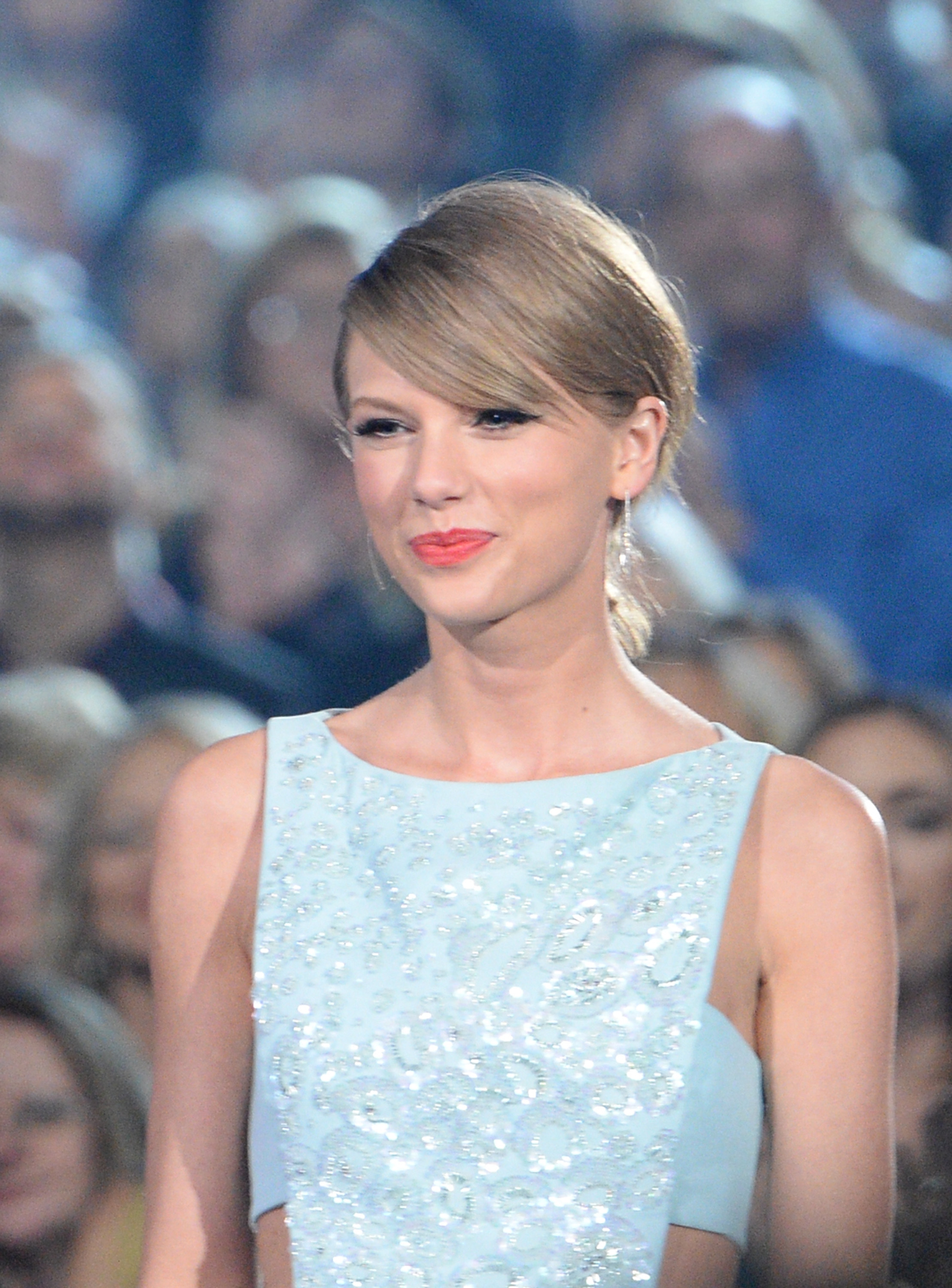 Taylor Swift onstage during the 50th Academy Of Country Music Awards at AT&T Stadium on April 19, 2015 in Arlington, Texas.