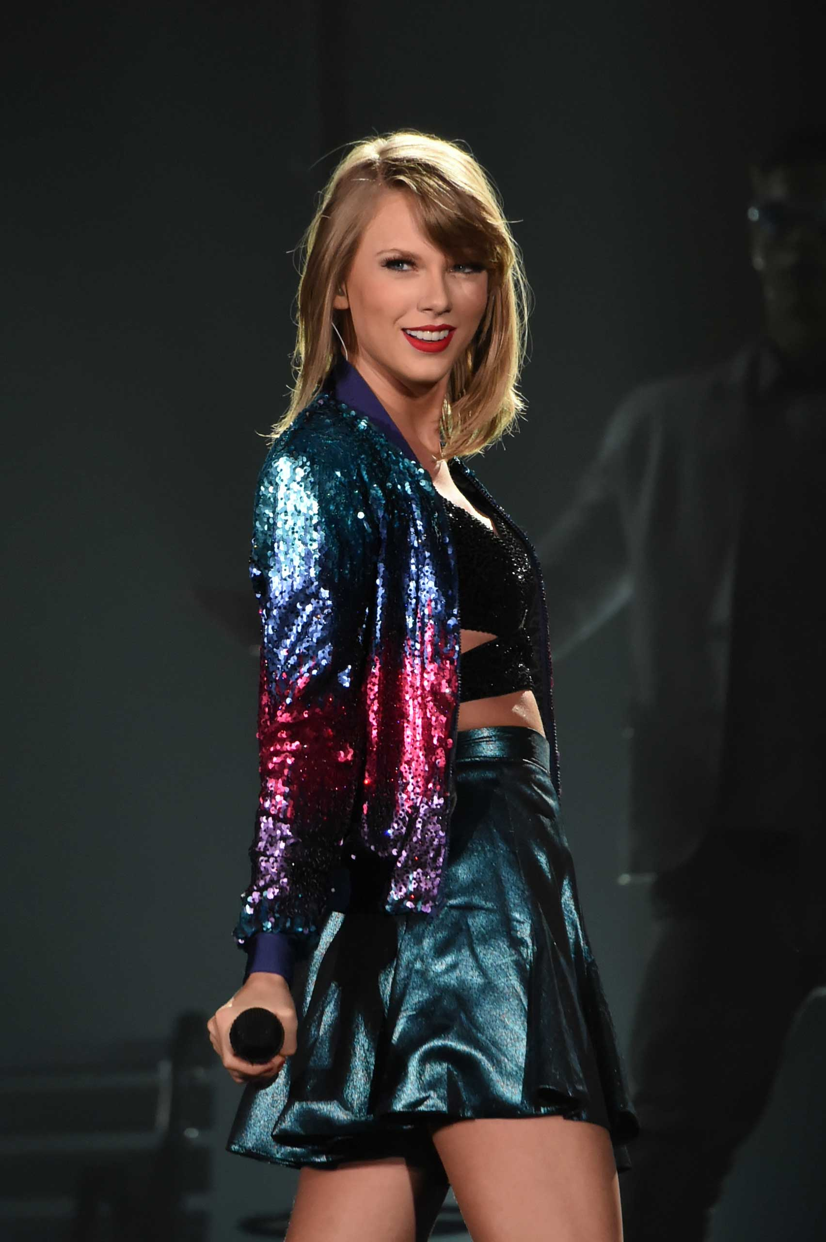 Taylor Swift performs during The 1989 World Tour at Tokyo Dome in Tokyo on May 6, 2015.