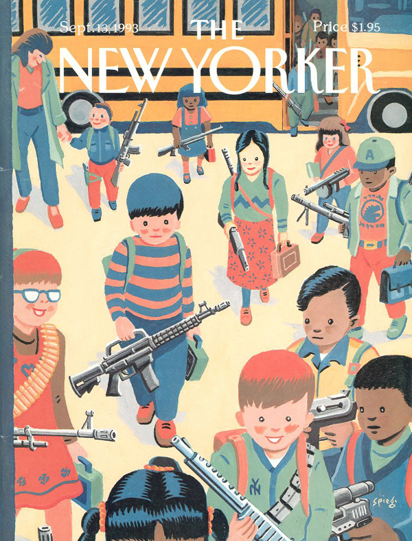 The Sept. 13, 1993 issue of the <i>New Yorker</i>, commenting on a high-profile student murder at a Texas high school.