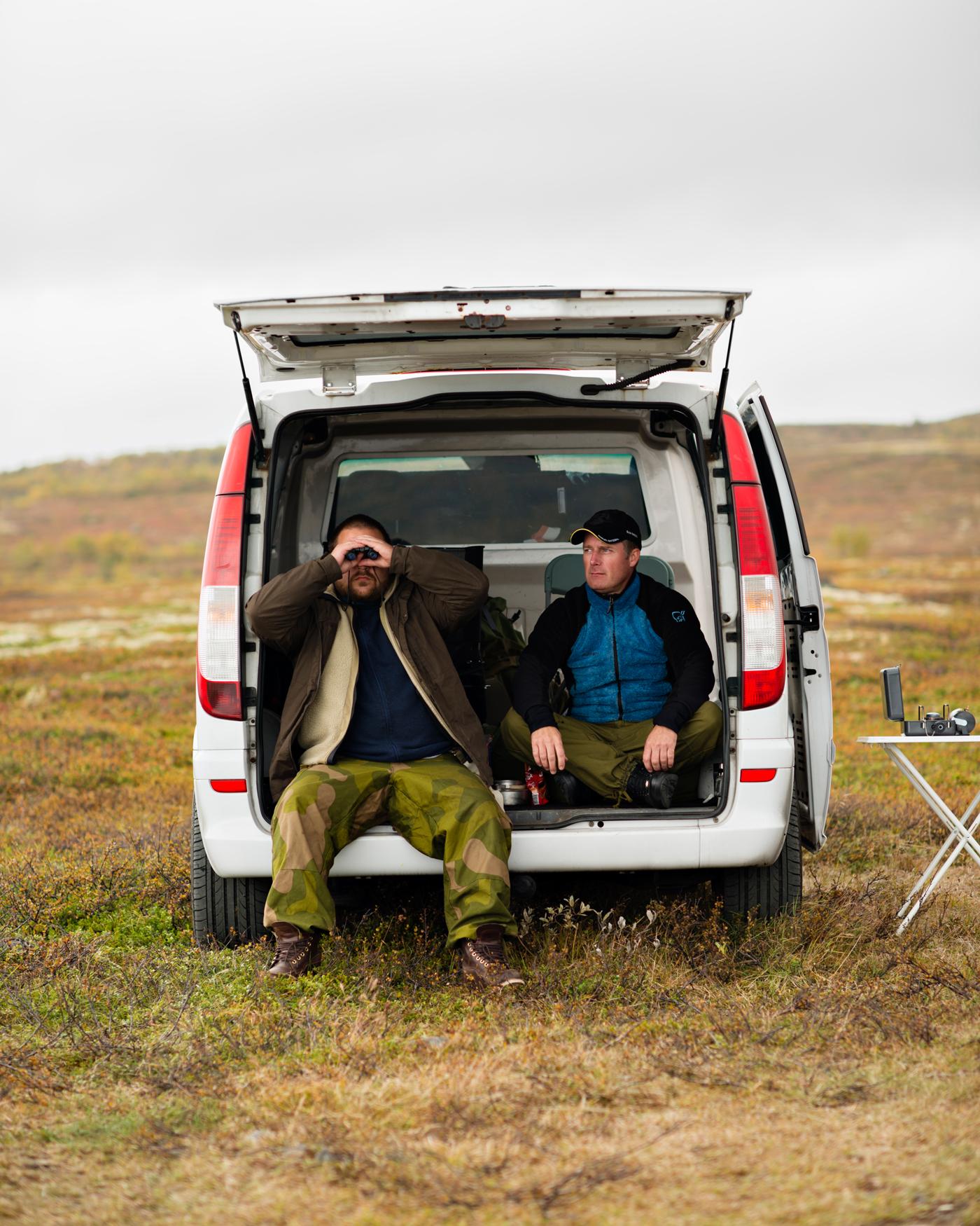 UFO spotters Erik Tobias Øhrn-Andresen and Ole Vidar Nilsen.