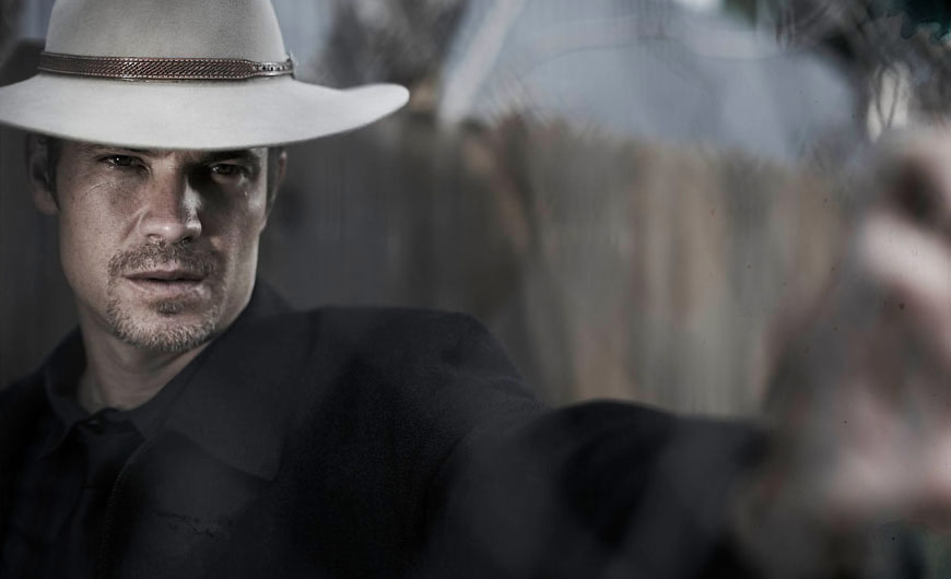 Timothy Olyphant as Raylan Givens in FX's  Justified.