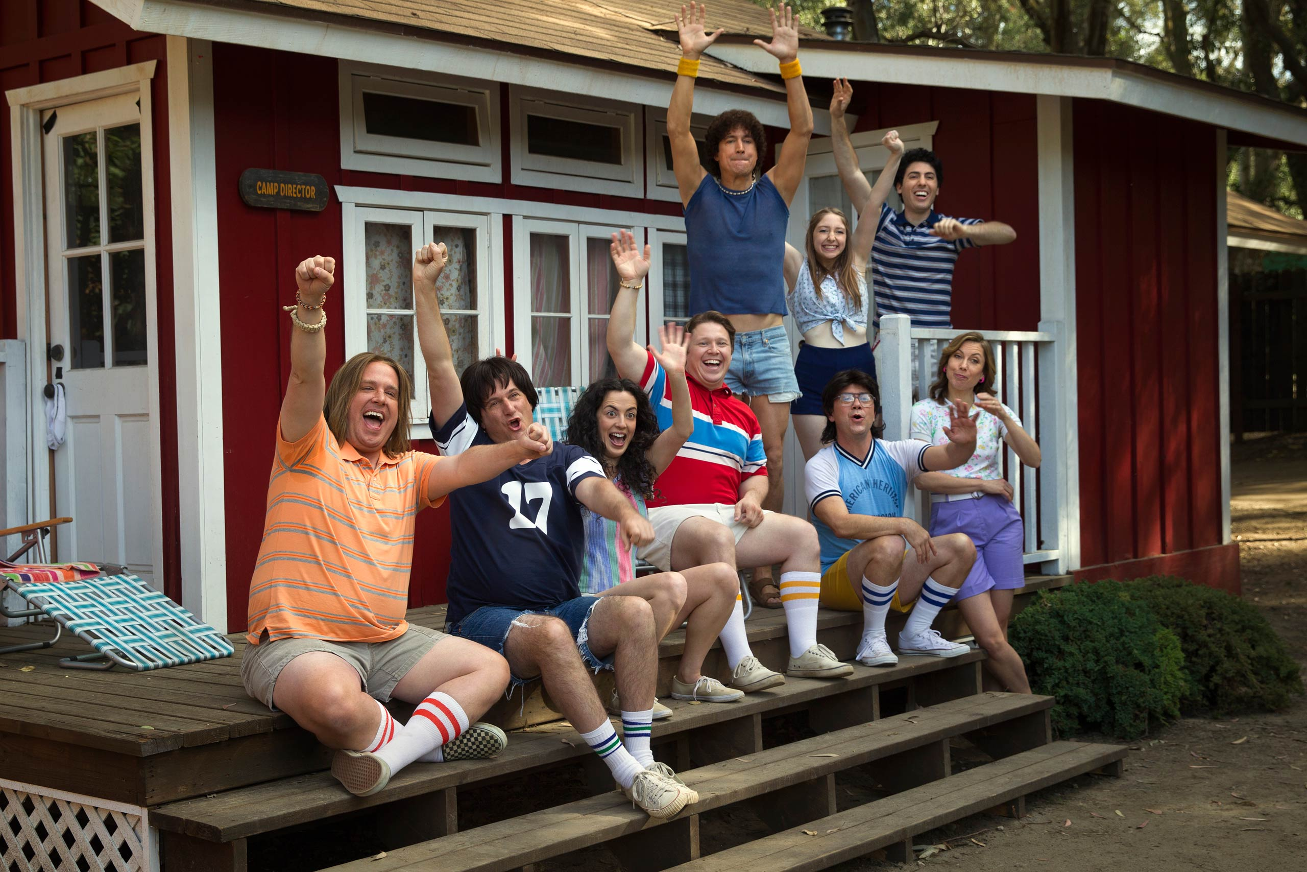 From left: Zak Orth, Michael Showalter, Ken Marino, Joe Lo Truglio and Nina Hellman in <i>Wet Hot American Summer: First Day Of Camp</i>
