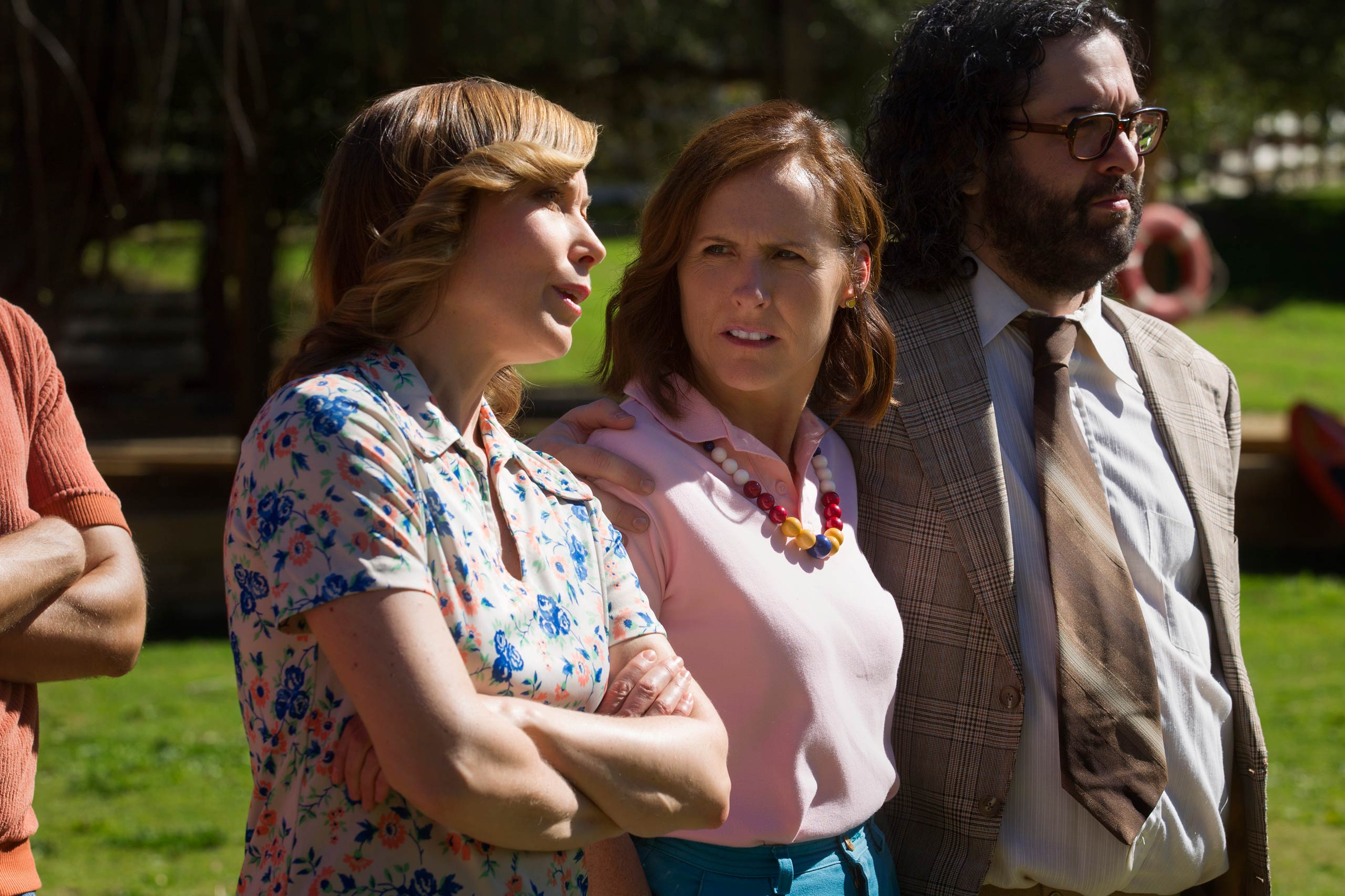Nina Hellman, Molly Shannon and Judah Friedlander in <i>Wet Hot American Summer: First Day Of Camp</i>