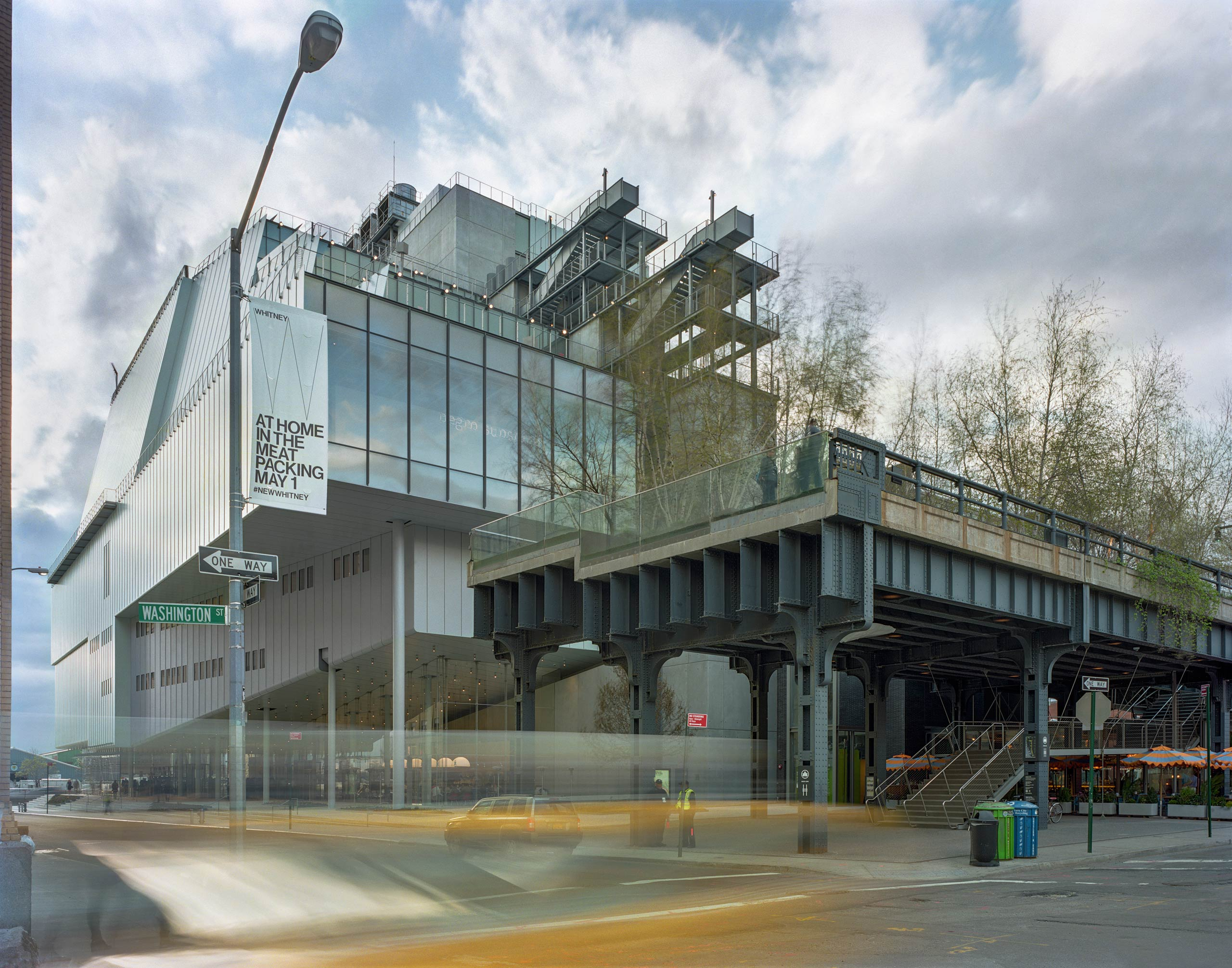 An exterior view of the Whitney Museum