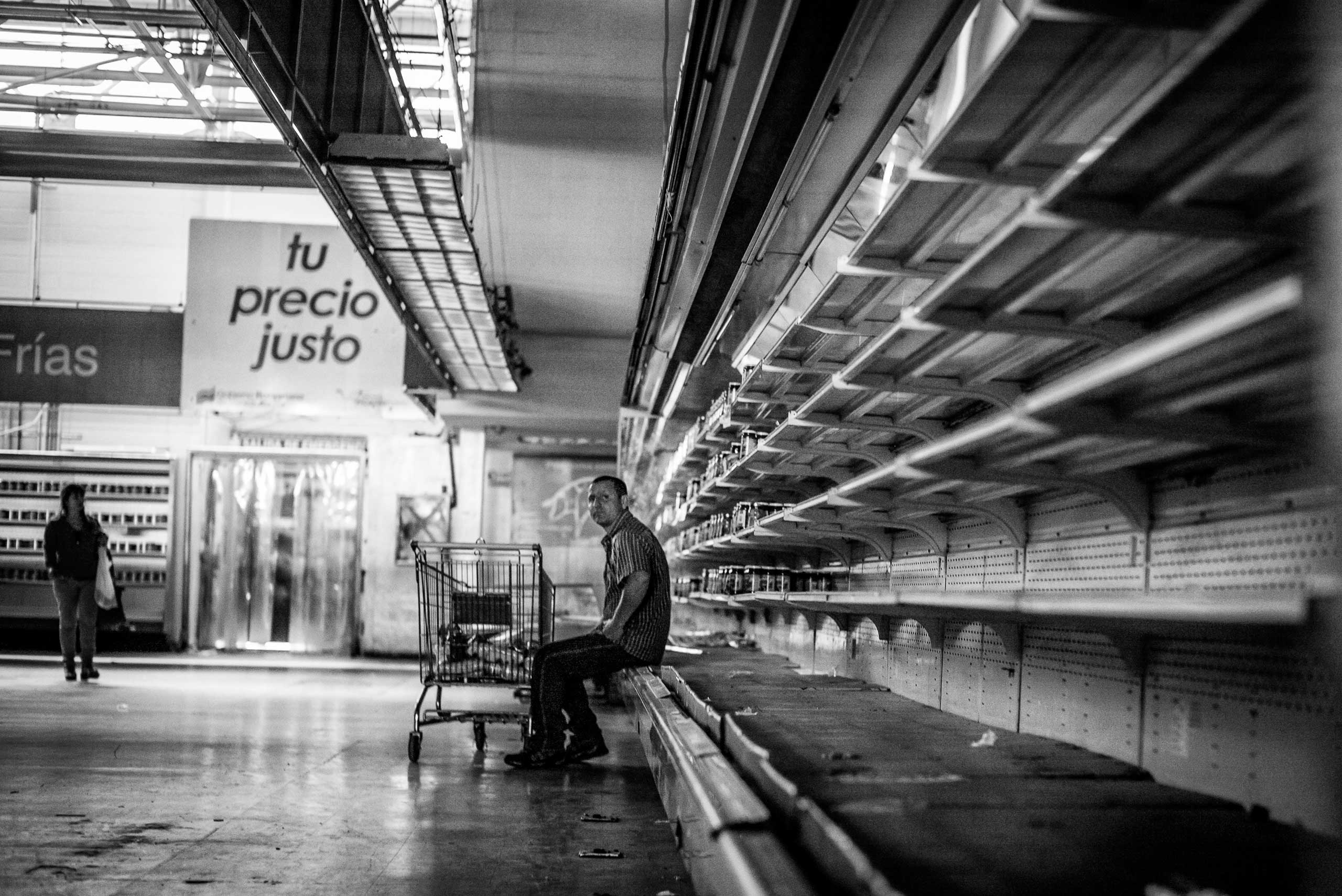 Government-run supermarket in Caracas.  January 2015.